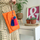 POPPY CLUTCH | ORANGE