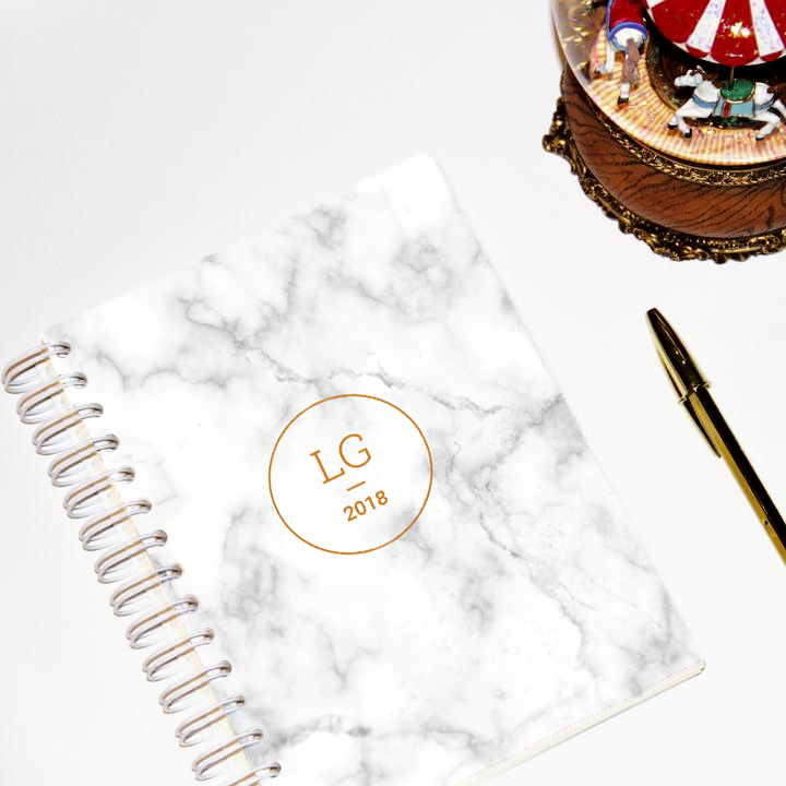 LIFE PLANNER * MARBLE * 12 MONTH AGENDA