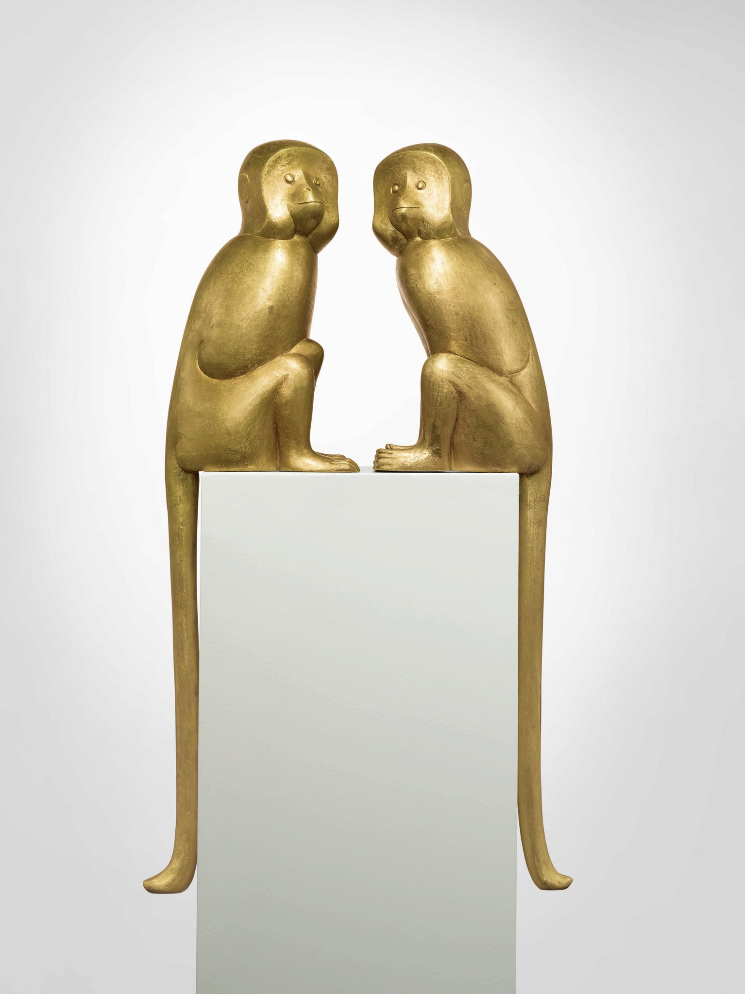 Singe I and Singe II (1999) by Francois-Xavier Lalanne sold at Sotheby's New York in July for $3,500,000 and $3,980,000 respectively. Photo © Sotheby's