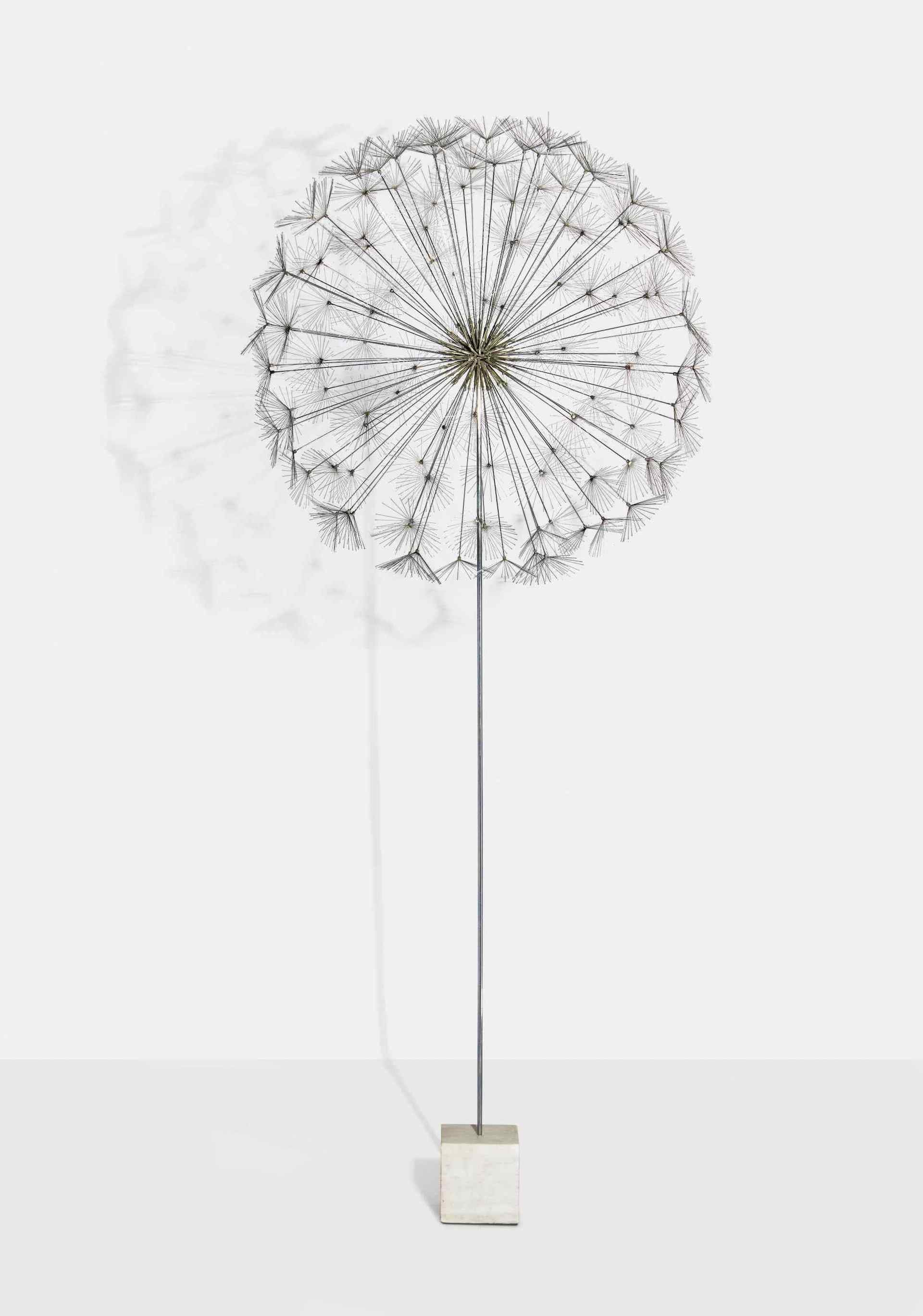 Sotheby's New York 25 May 2021 - Important Design: from Noguchi to Lalanne [lot 132]: Untitled (Dandelion) by Harry Bertoia, 1958. Estimate: $150,000 - $200,000. Sold: $1,943,900. Photo © Sotheby's