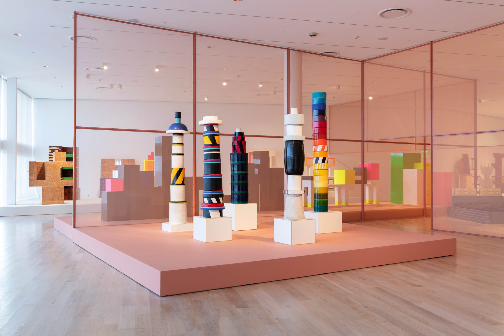 Ettore Sottsass and the Social Factory exhibition. Photo © ICA Miami