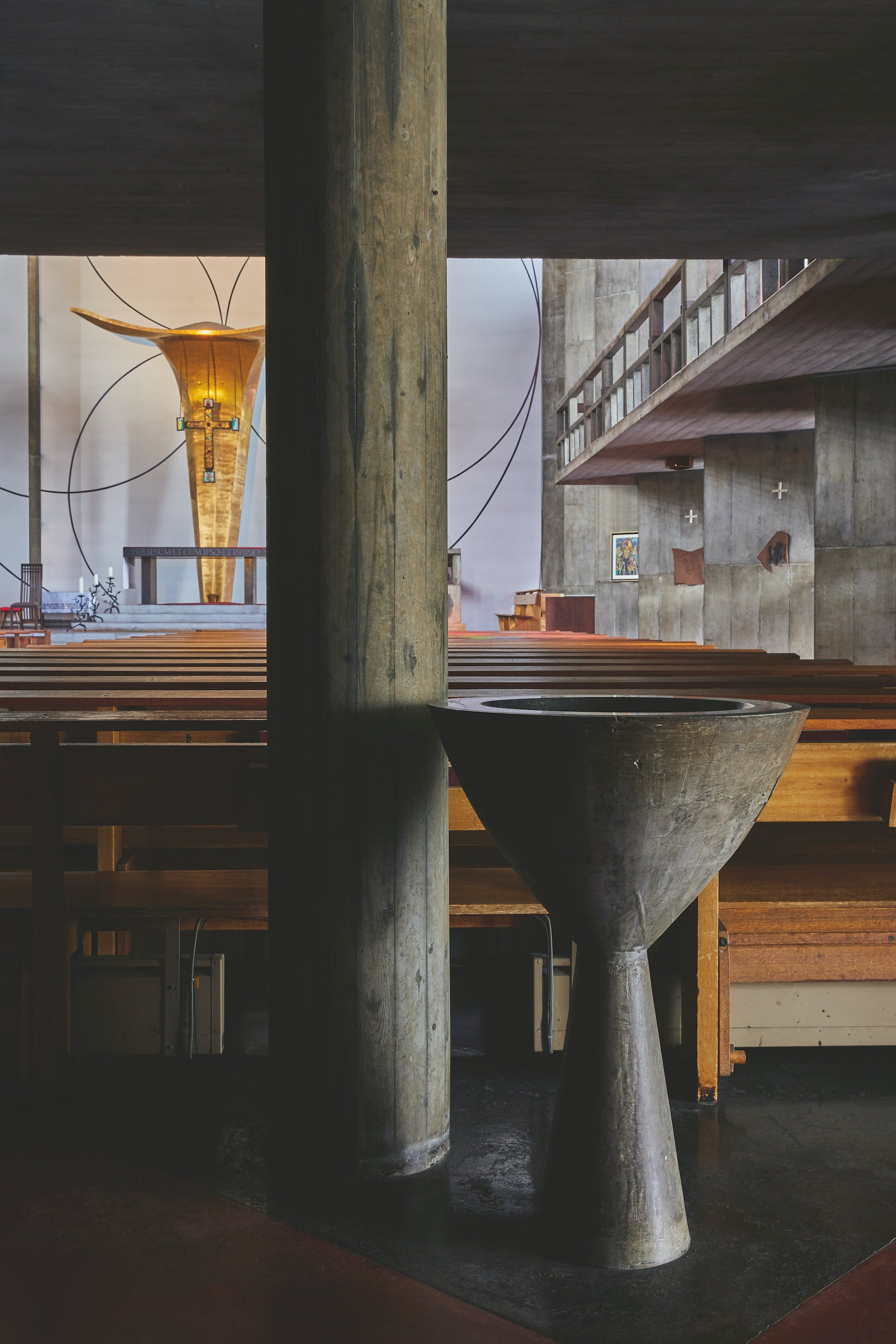 St. Anselm's Catholic Church, built between 1952 and 1956. Photos © Yoshihiro Makino