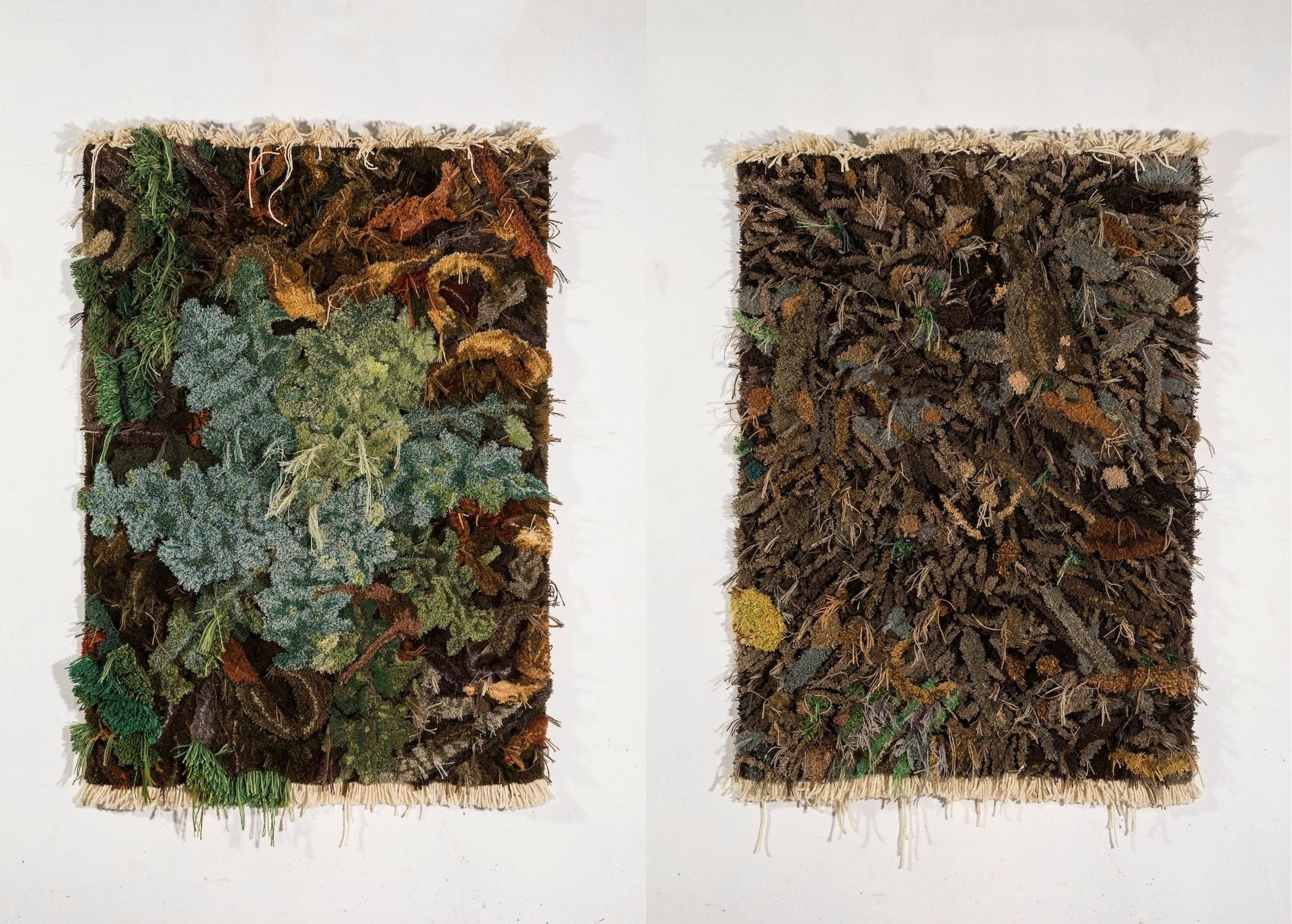 Thistle (left) and High Waters Retreat (right) by Alexandra Kehayoglou, two of her most recent works inspired by her time in the Paraná wetlands. Photos courtesy of Alexandra Kehayoglou