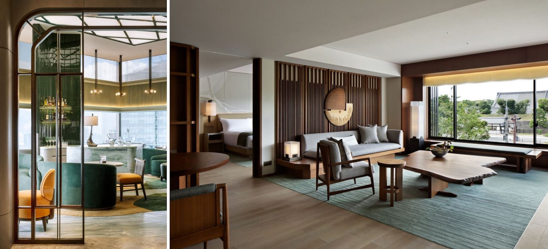Interiors by André Fu: The Upper House in  Hong Kong and Hotel The Mitsui in Kyoto. Photos © André Fu Studio