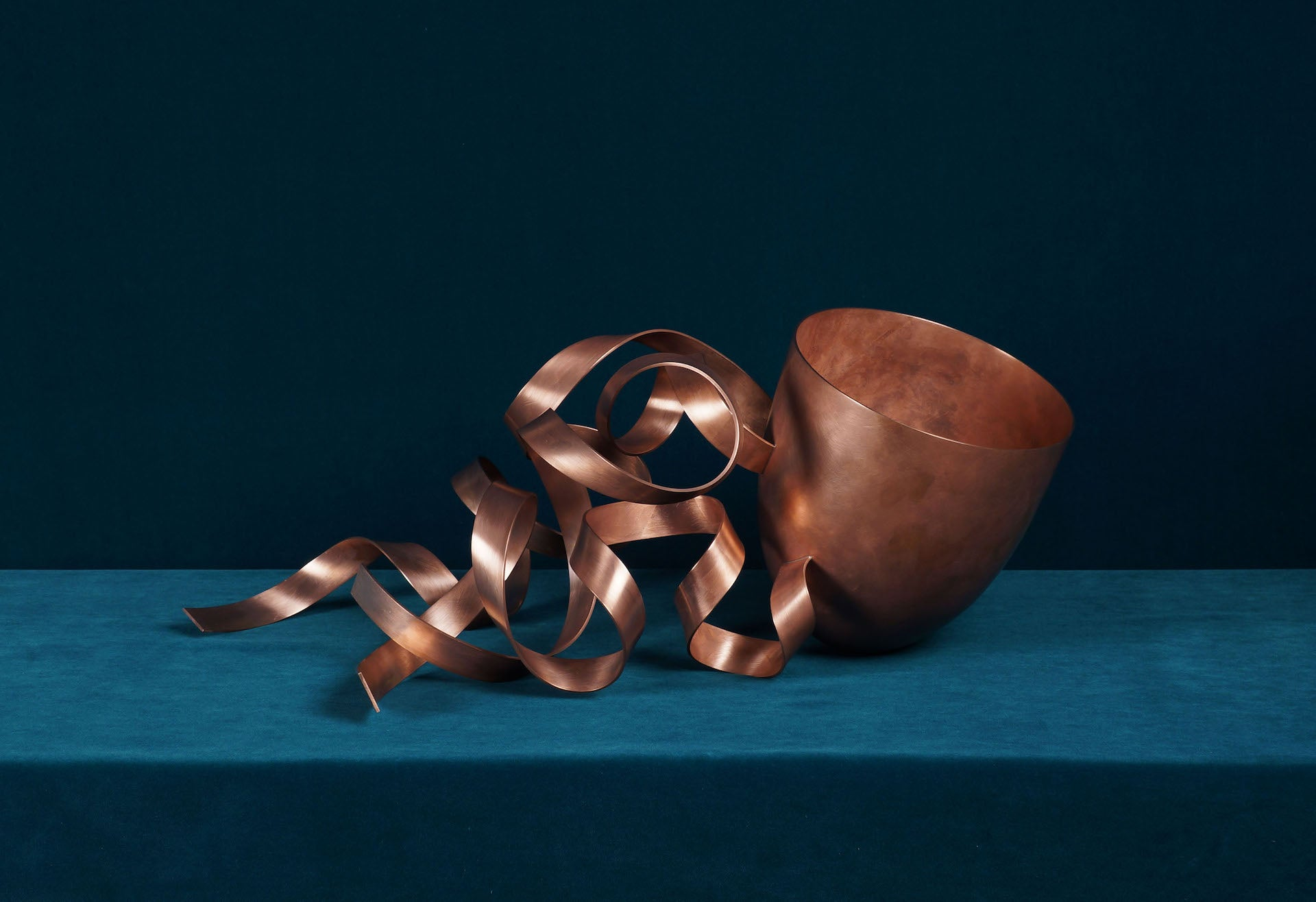 Number One Copper Bowl by Ane Christensen, included in Adaptation at Culture Object. Photo © Culture Object