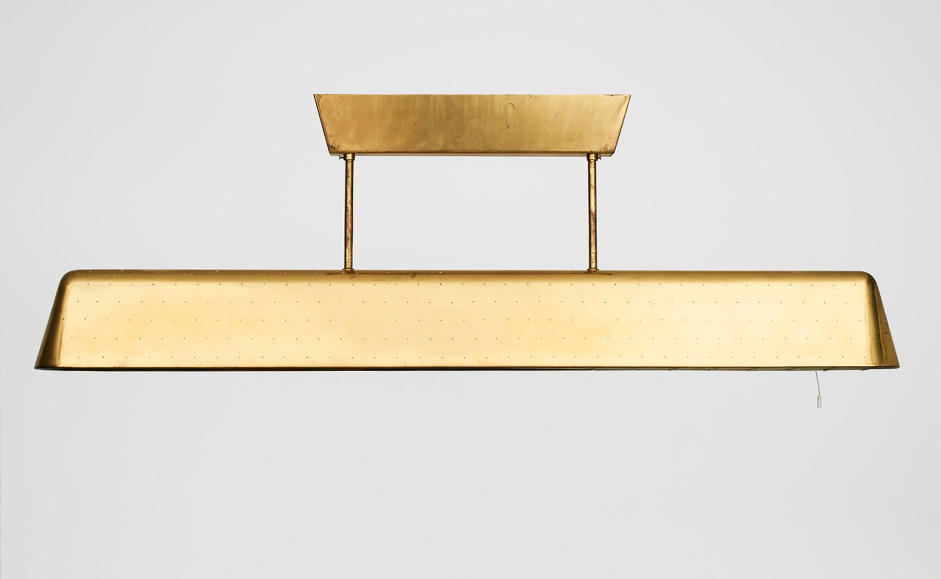 Ceiling lamp in perforated brass/ Paavo Tynell, 1953/ Brass/ Courtesy of Angela Weber Möbel