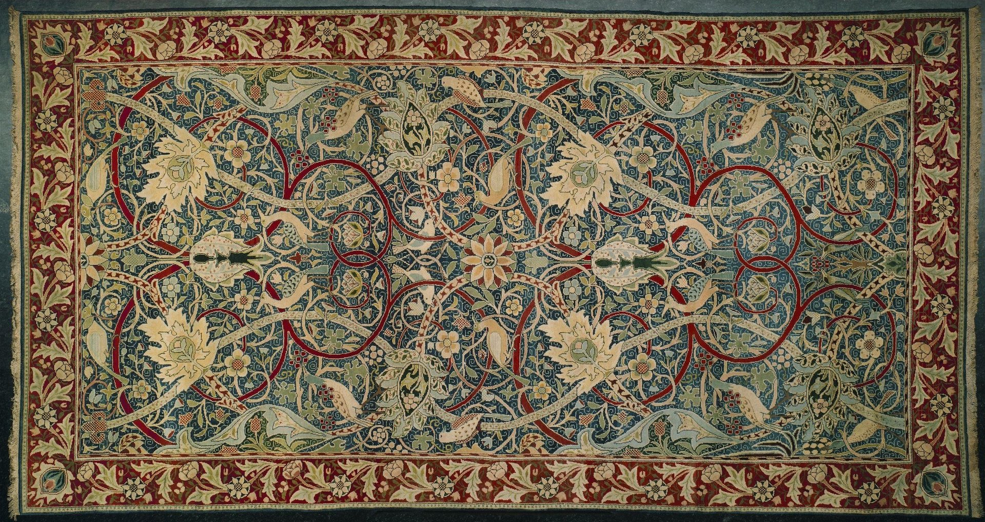 Bullerswood Carpet by William Morris and John Henry Dearle, 1889. Photo © the Victoria & Albert Museum