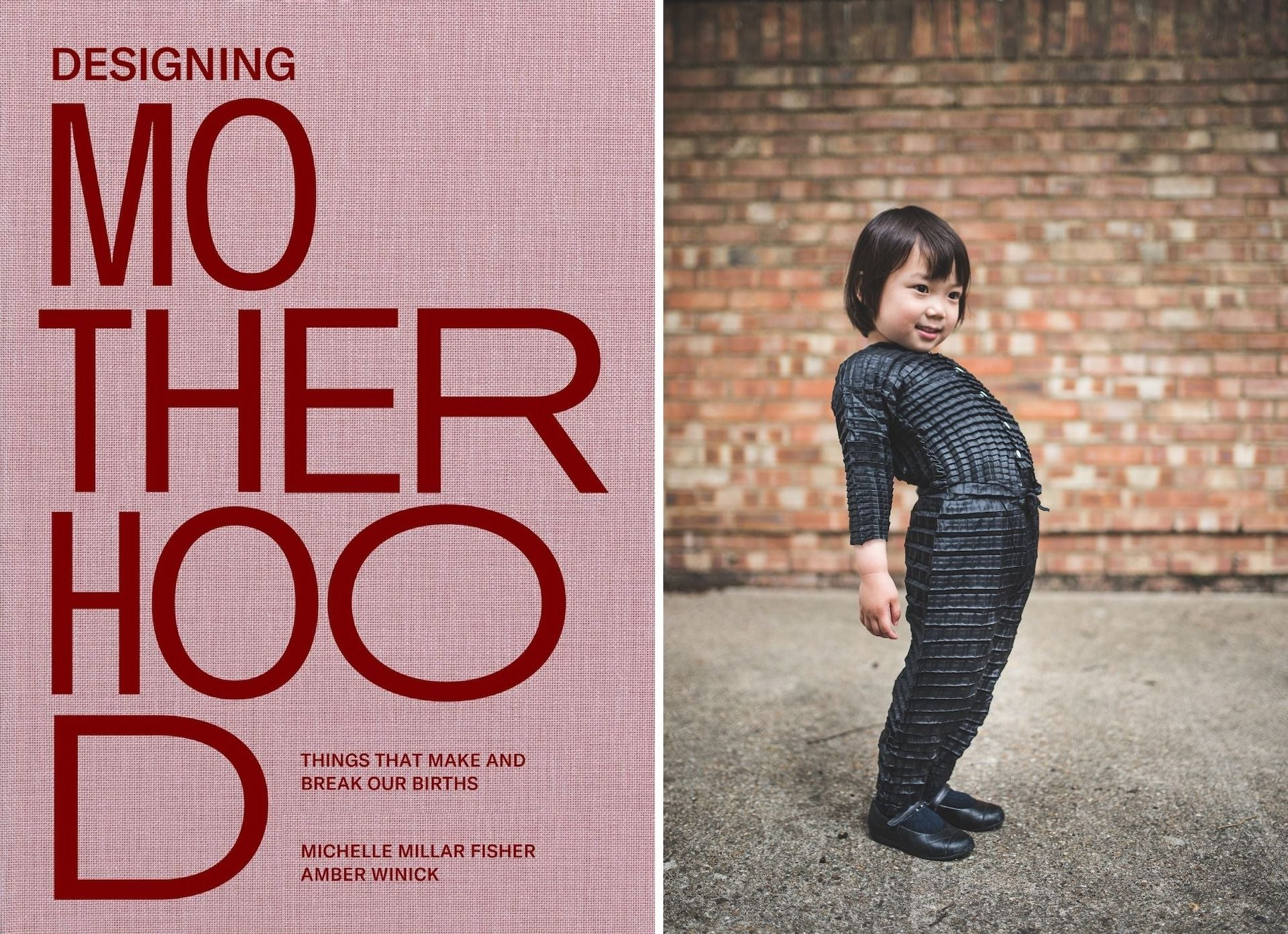Designing Motherhood, published by MIT Press, available this month. | Ryan Mario Yasin's Petit Pli garments that grow with their young wearers. Photo courtesy of Petit Pli