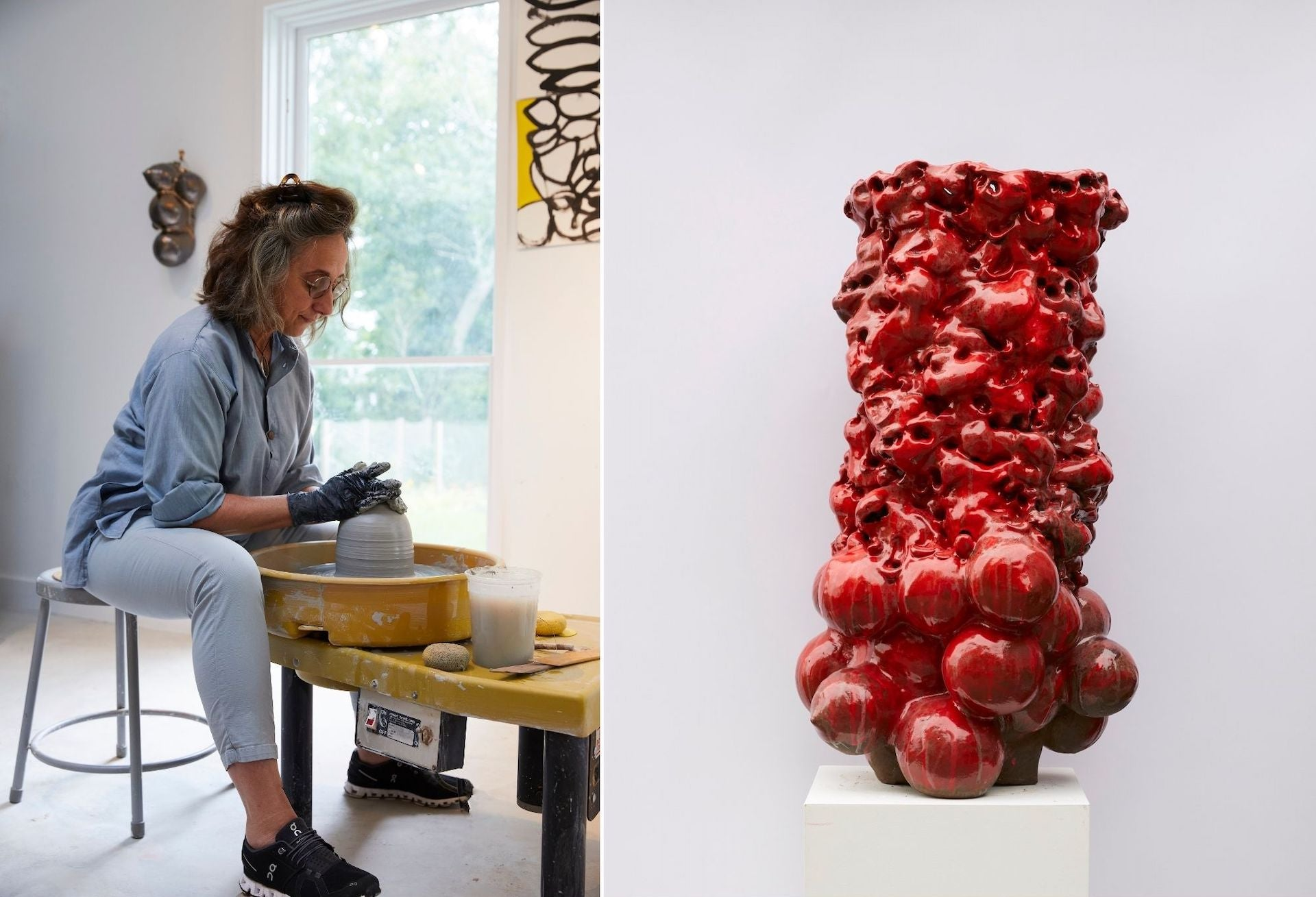Donna Green in her studio. Untitled by Donna Green, 2020. Photos by Alexandra Rowley; courtesy of the artist
