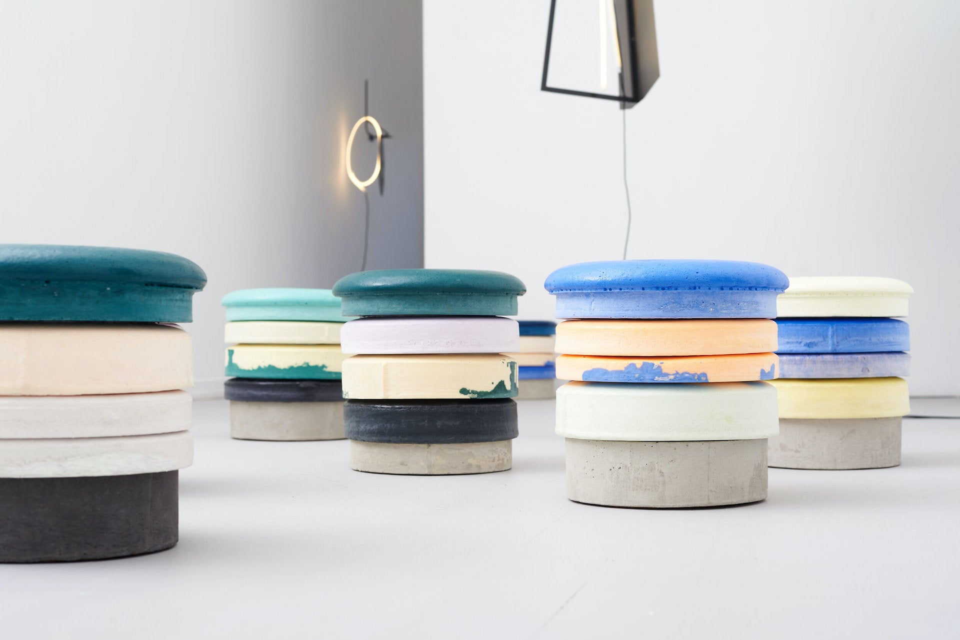 Macaron Stools by Cristian Andersen, 2020. Photo © Etage Projects