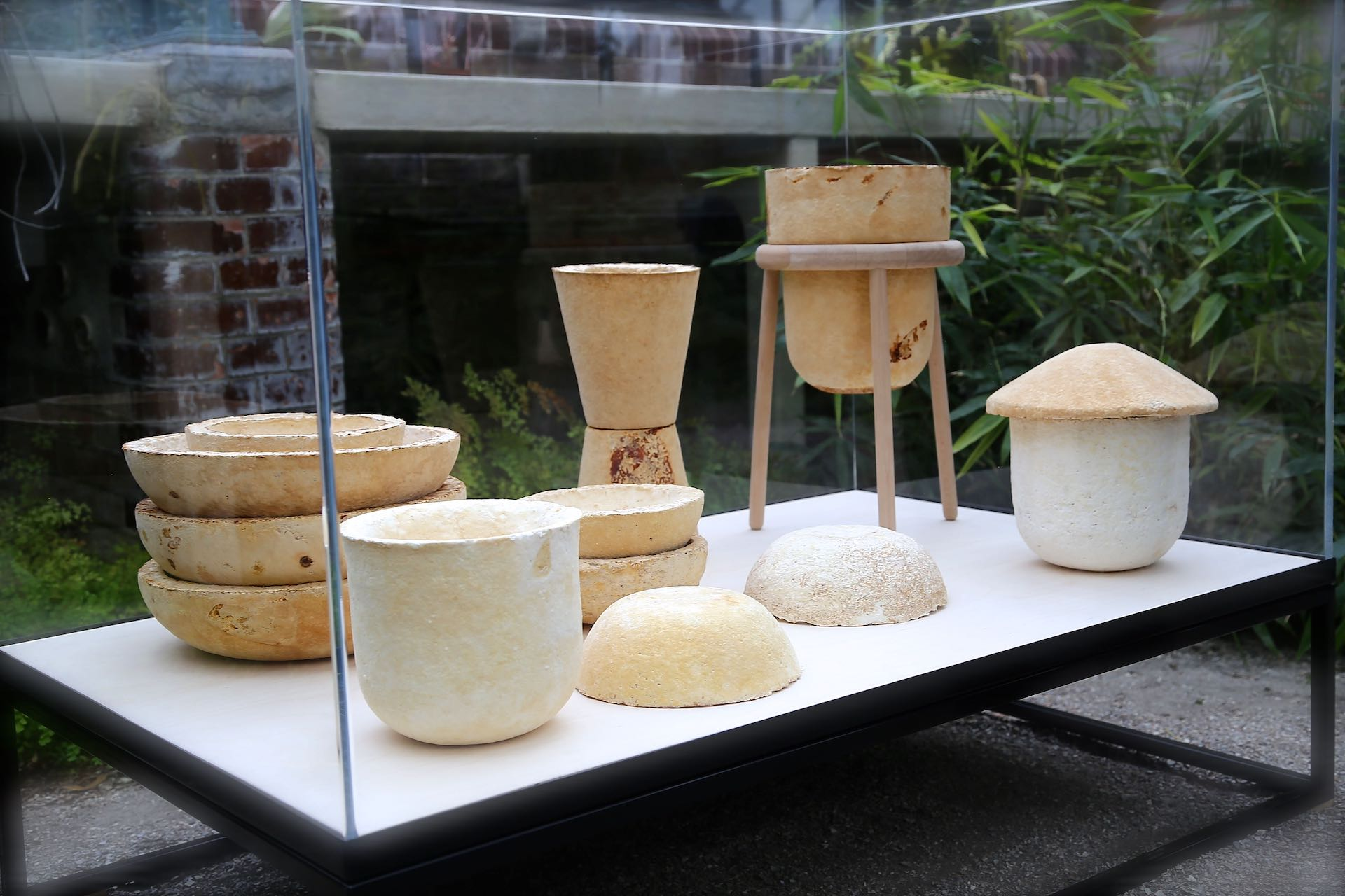 Objects grown using Mycelia-based technology from Officina Corpuscoli's Growing Lab. Photo © Officina Corpuscoli /  Maurizio Montalti