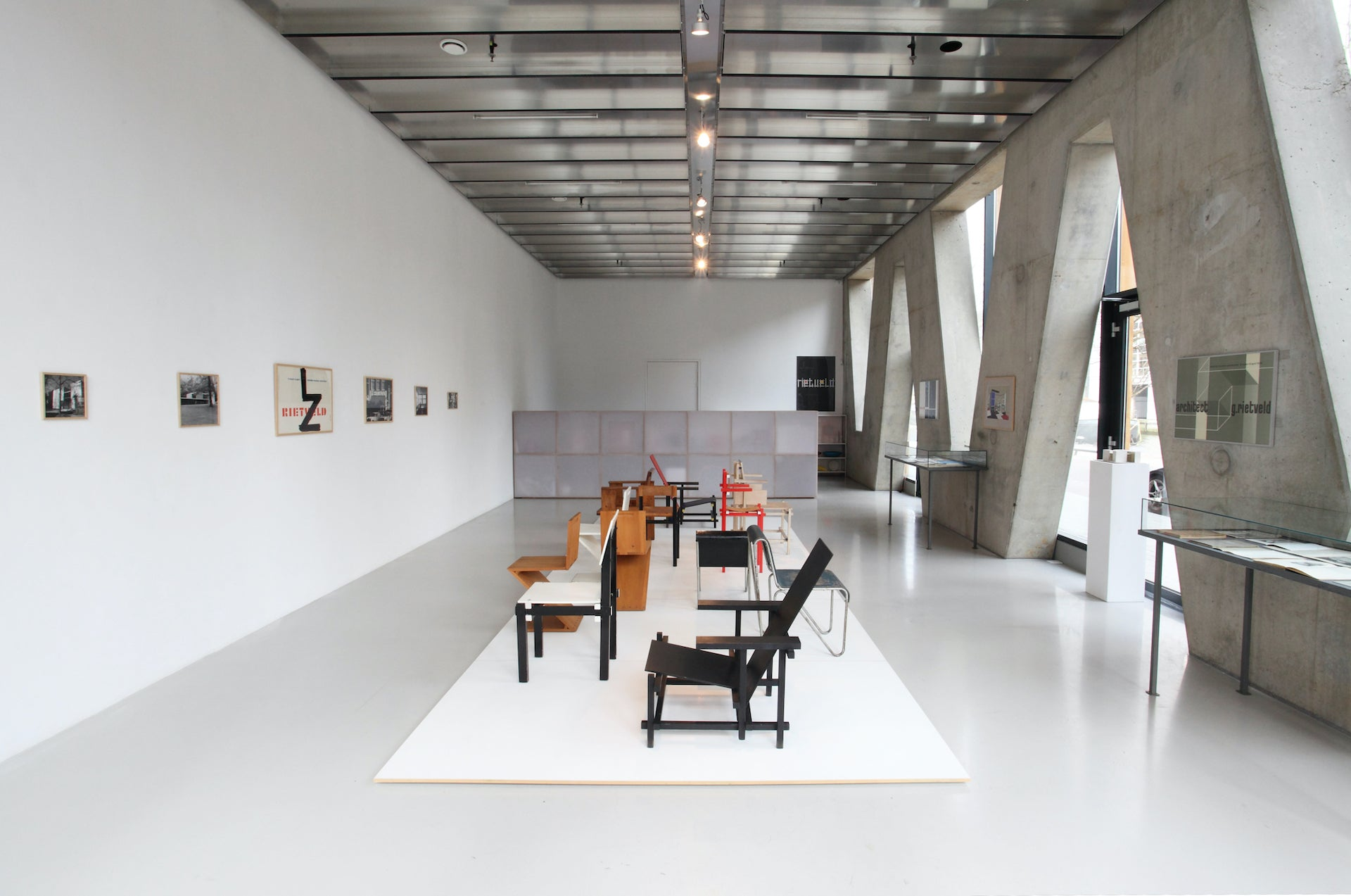 Gerrit Th. Rietveld exhibition at Galerie VIVID, 2013; the first ever Rietveld exhibition in a Dutch gallery. Photo © Galerie VIVID