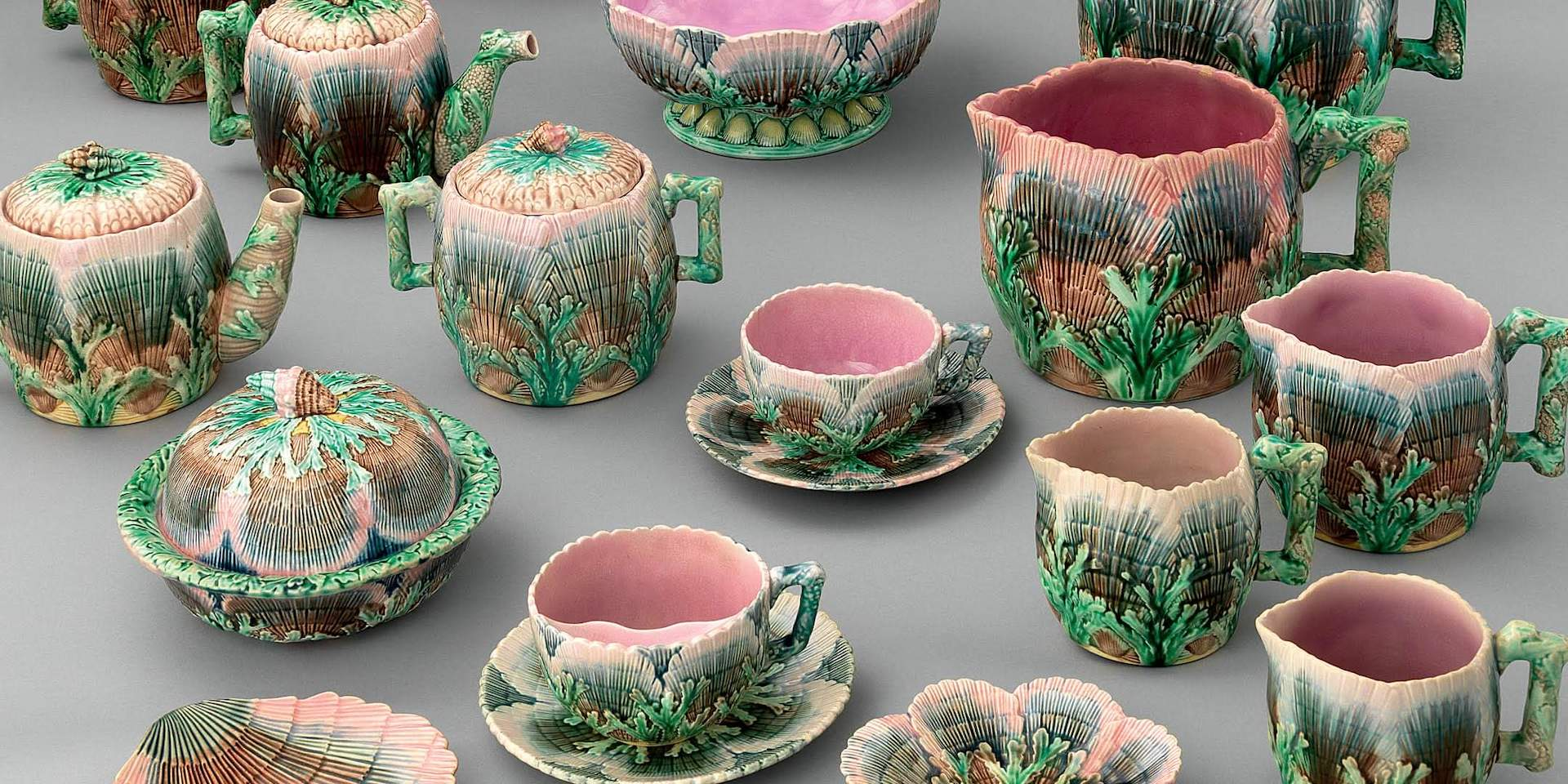 Shell Ware from Griffen, Smith & Co, 1879-90. Photo © Bruce M White; courtesy of Bard Graduate Center