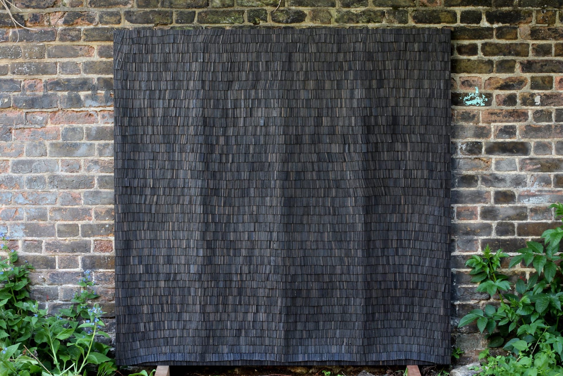 Hundred Foot Drain 10 by Wycliffe Stutchbury, 2020; composed of excavated bog oak. Photo © Sarah Myerscough Gallery