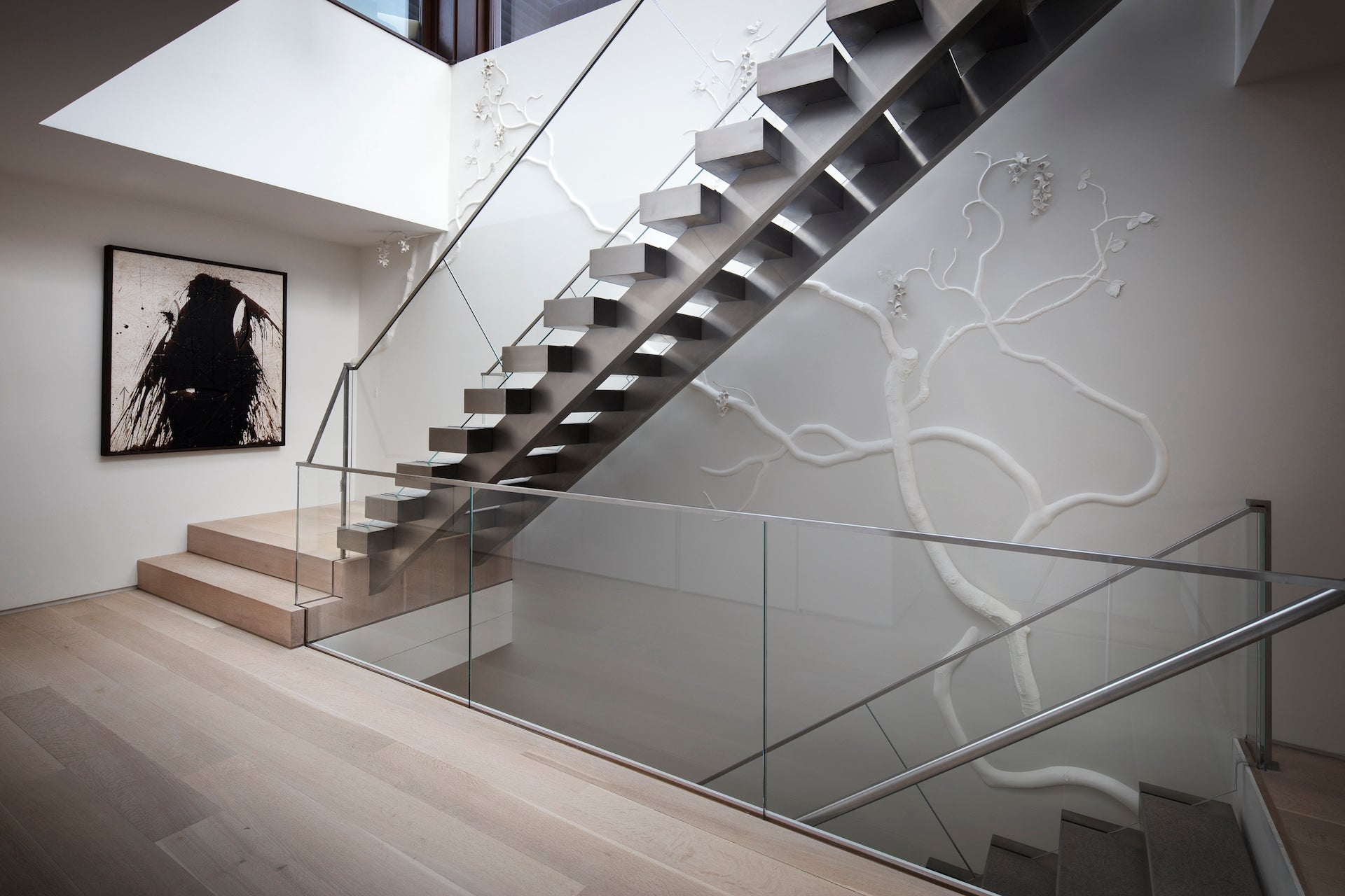 A site specific installation by David Wiseman for a New York residence. Photo © Joe Kramm