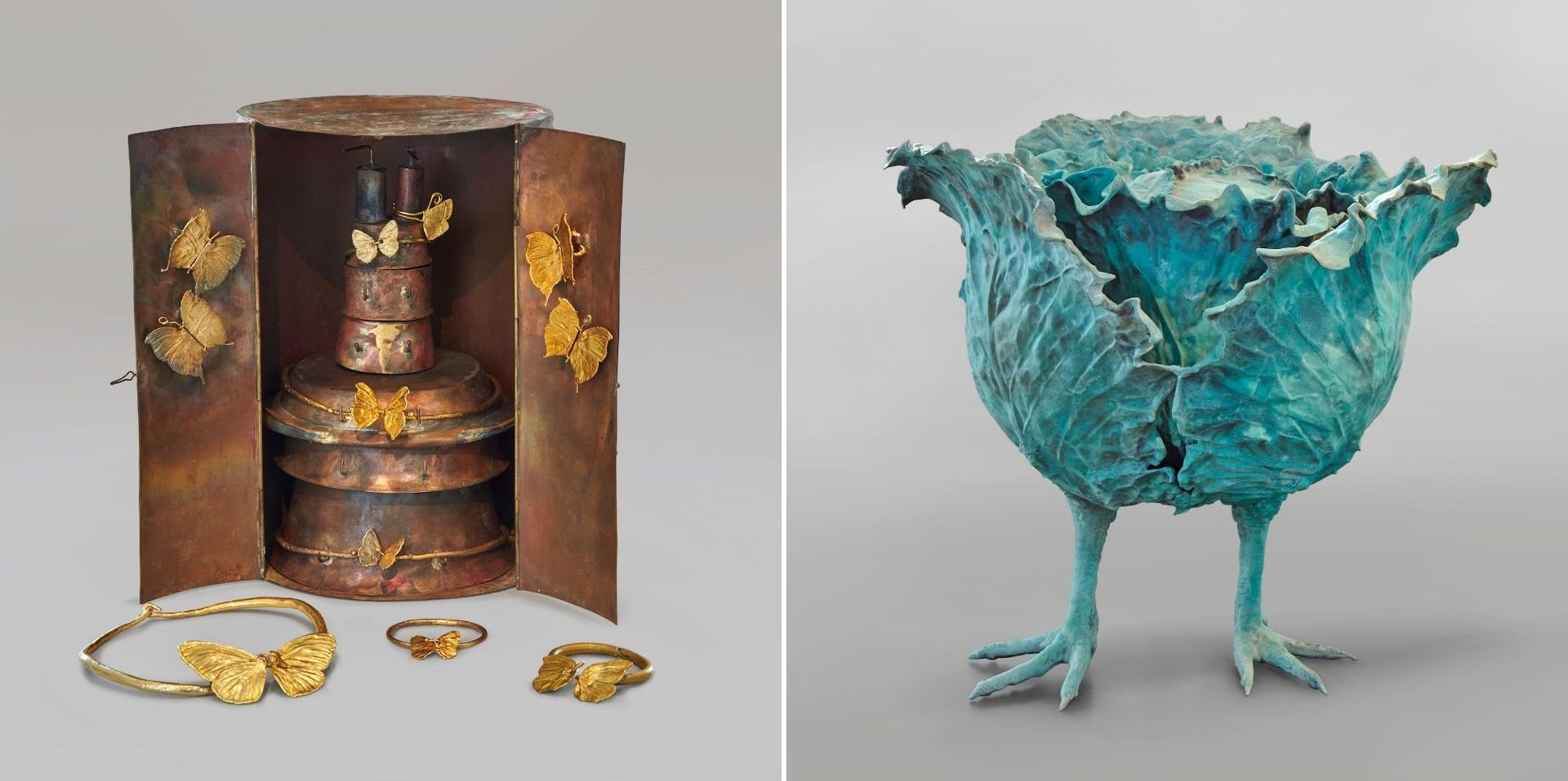 Le Cabinet Papillons, c. 1964, and Très Grand Choupatte, 2008/2012, both by Claude Lalanne. Photo © 2021 Artists Rights Society (ARS), New York / ADAGP, Paris; Clark Art Institute / T Clark