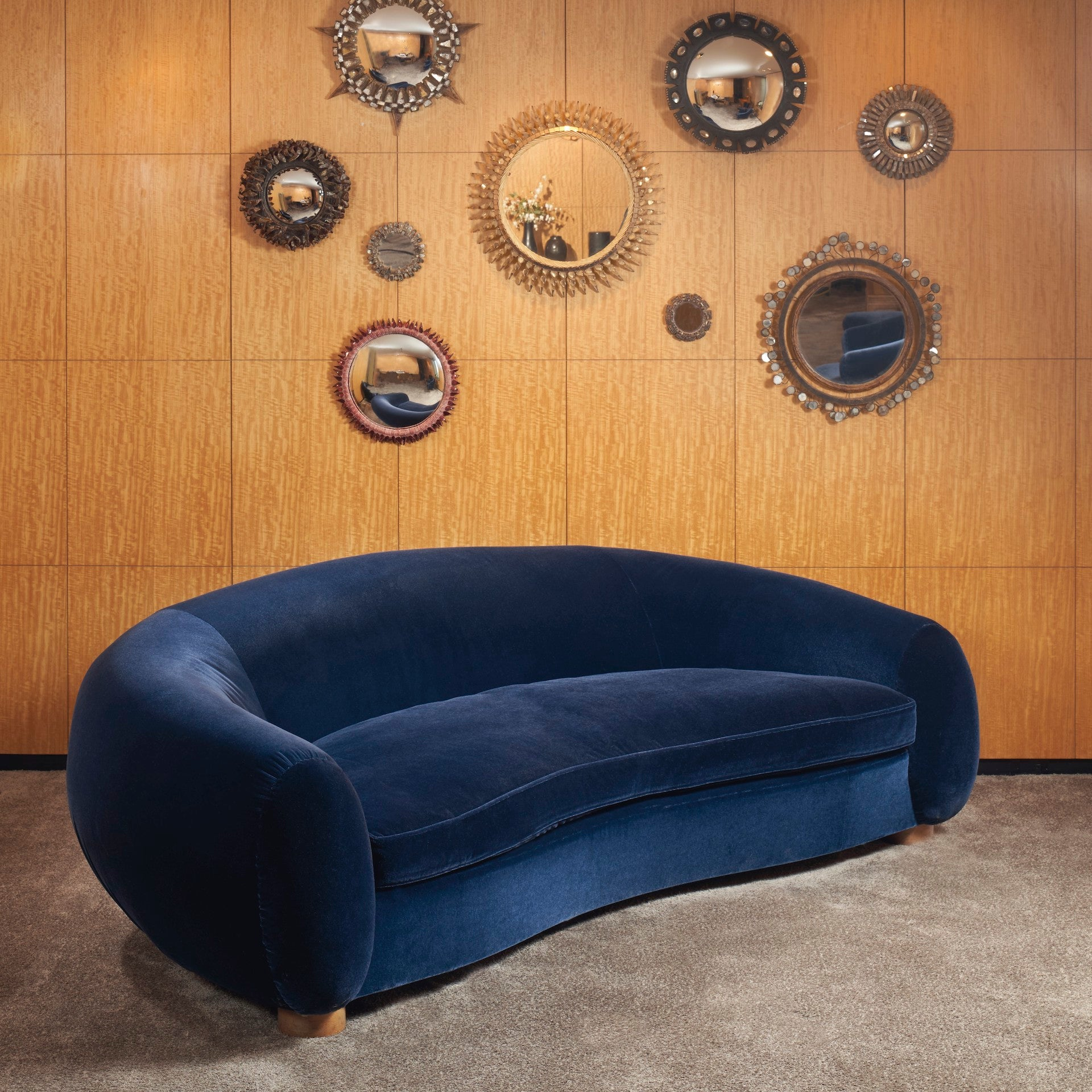 Christie's New York 26 May 2021 - Paris in New York: A Private Collection of Royère, Vautrin, Jouve [lot 13]: Ours Polaire Sofa by Jean Royere, c. 1950. Estimate: $400,000 - $600,000. Sold: $1,230,000. Photo © Christie's Images Limited 2021