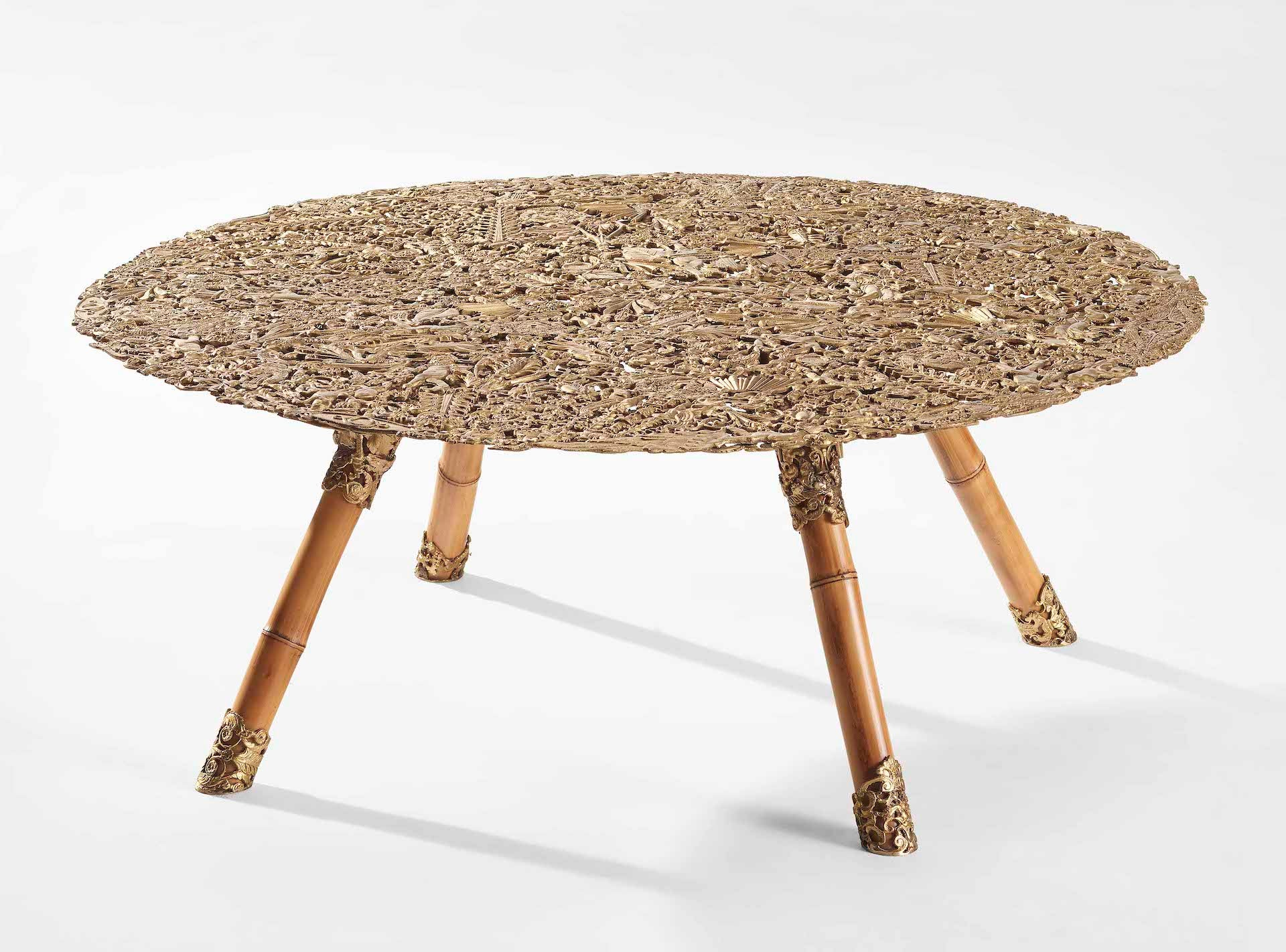 Christie's New York 27 May 2021 - Design [lot 290]: Brazilian Baroque Filigrana Low Table by Humberto and Fernando Campana, 2013. Estimate: $25,000 - $35,000. Sold: $162,500. Photo © Christie's Images Limited 2021