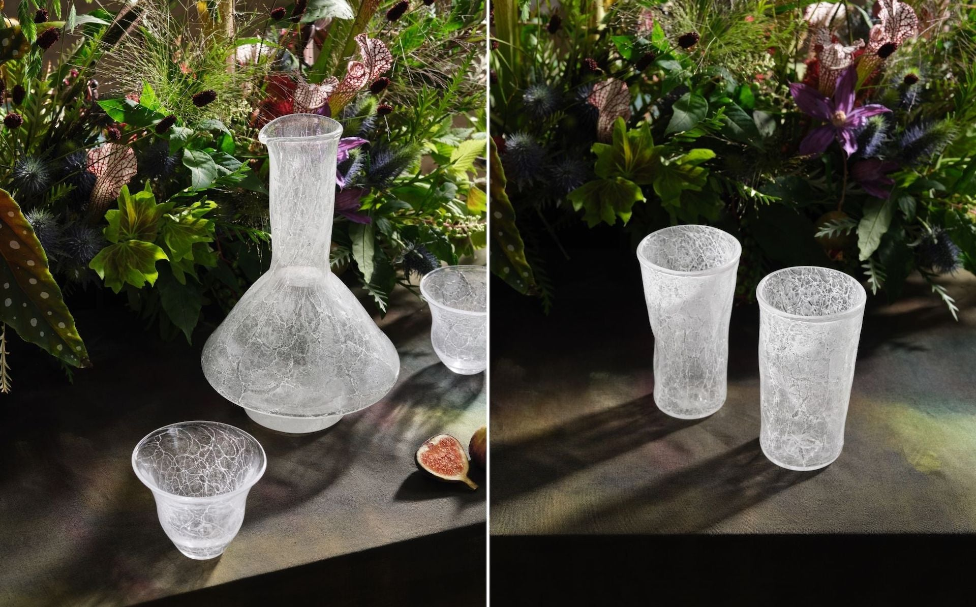 Glassware by Michiko Sakano for The Feast. Photos © DM/BX