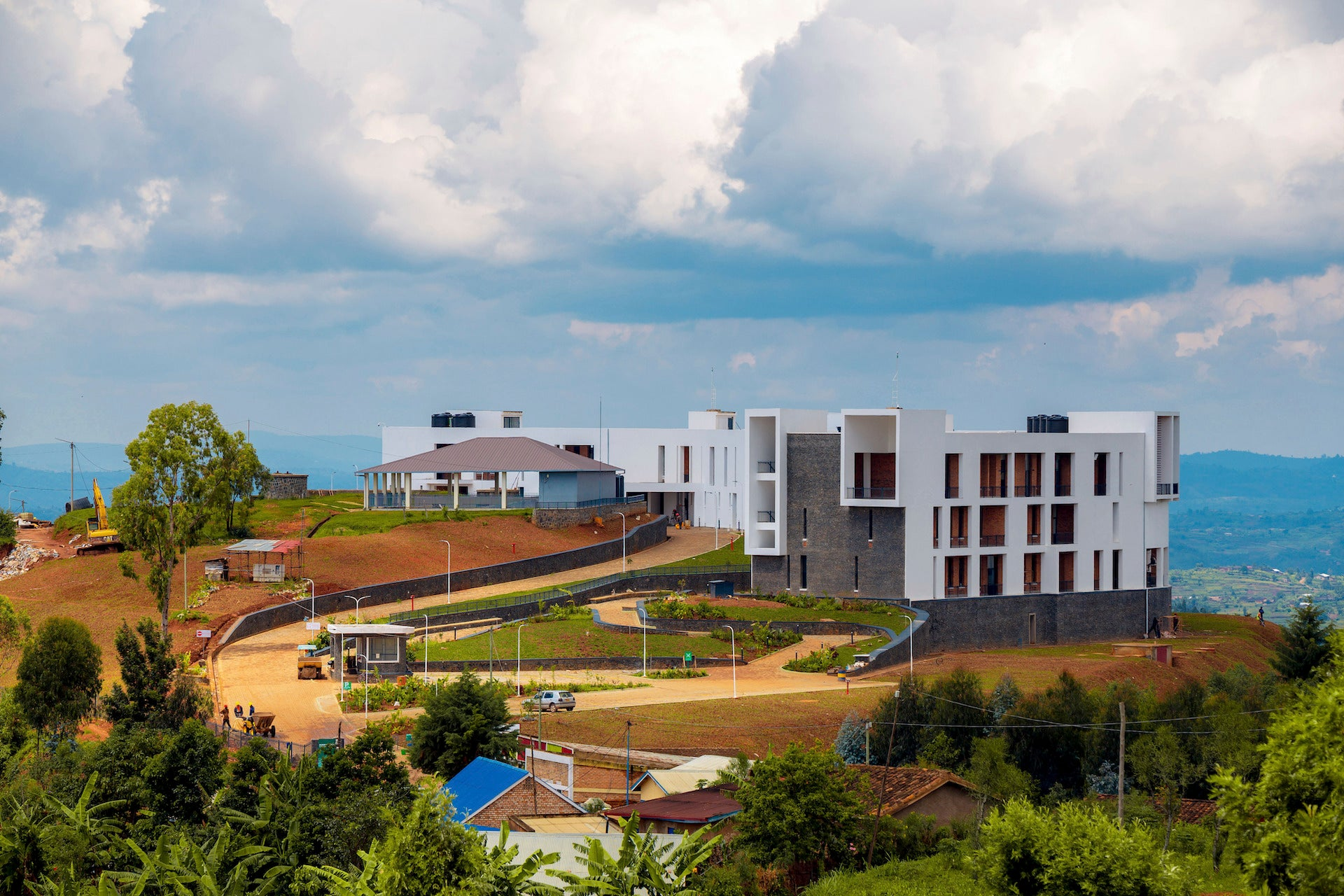 Munini District Hospital. Munini, Rwanda. Beginning in 2012, MASS worked with the Rwandan Ministry of Health to develop a set of hospital design standards to improve health outcomes that could be adapted to the specific needs of each District's context, demographics, and programmatic requirements. Photo © MASS Design Group