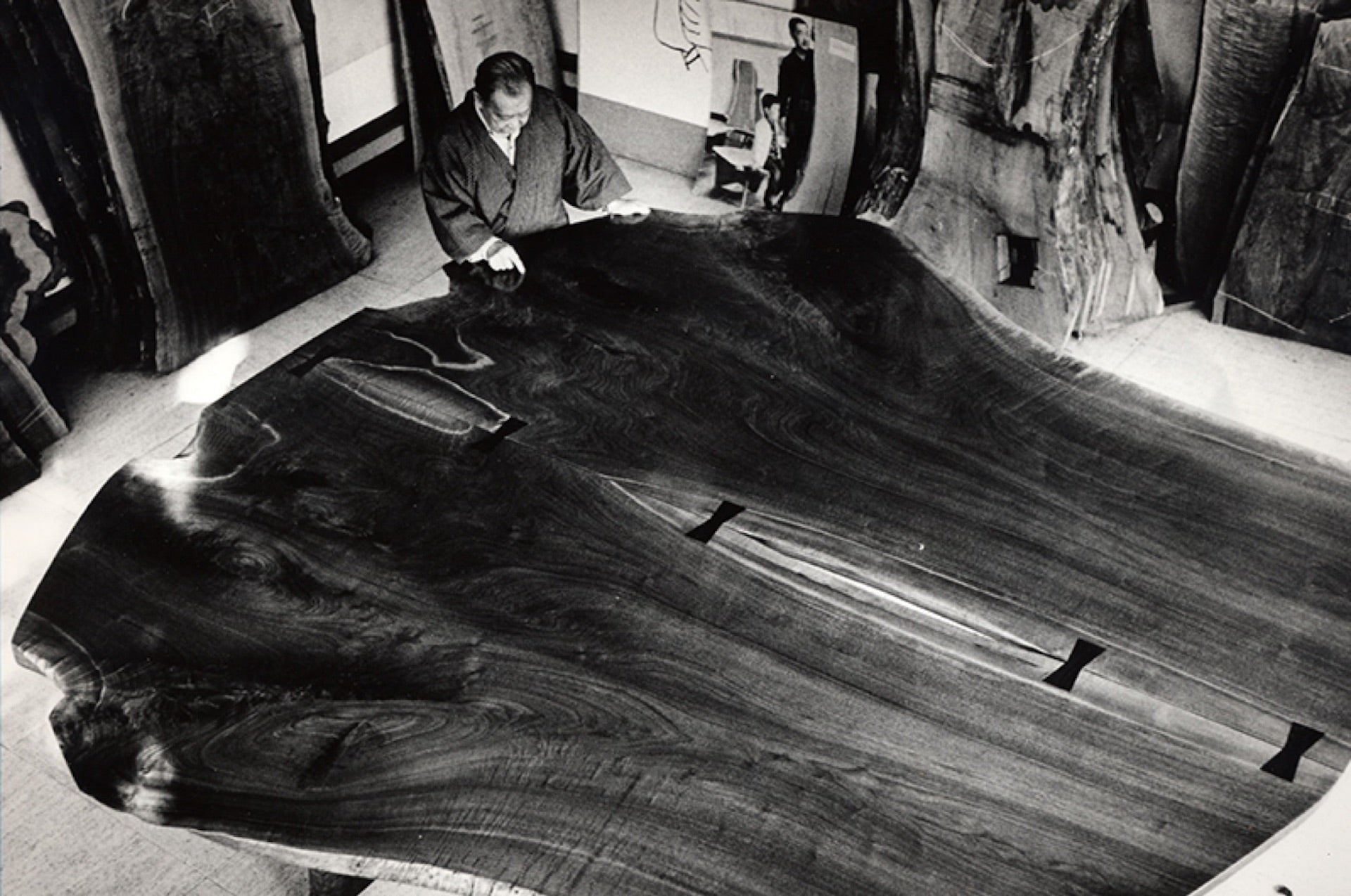 Nakashima's Peace Altar for the Cathedral of St John The Divine in New York City, installed 1986. Photo © Ezra Stoller Archive - Esto; courtesy of George Nakashima Woodworkers