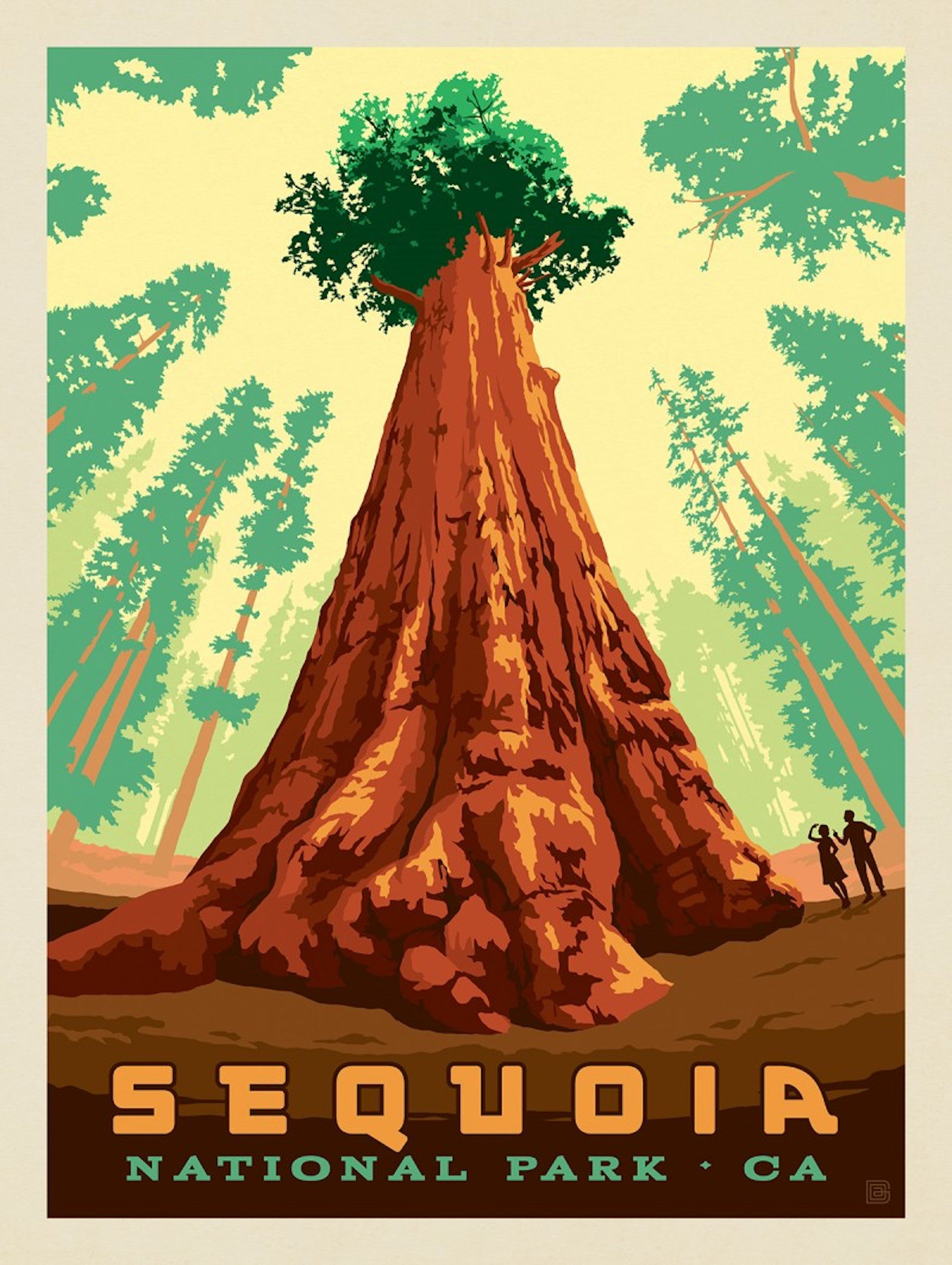 "Sequoia National Park poster. ""The National Park system is an American treasure,"" says Lopez. Photo © 2020 Anderson Design Group, Inc."