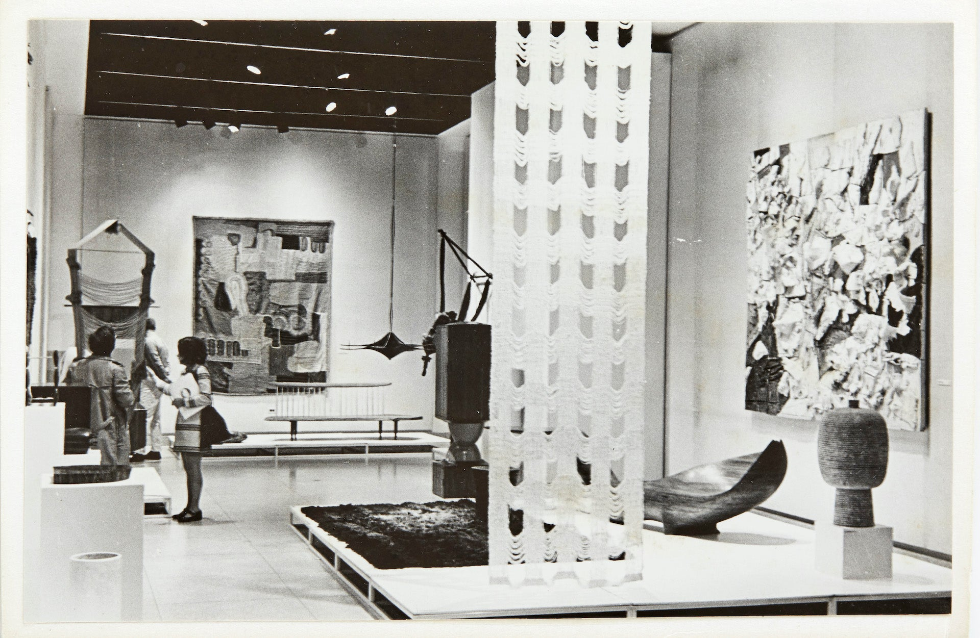 Exhibition view of the original Objects: USA show in 1969 at the Smithsonian American Art Museum, from a photo album from the Estate of Margret Craver. Photo courtesy of R & Company