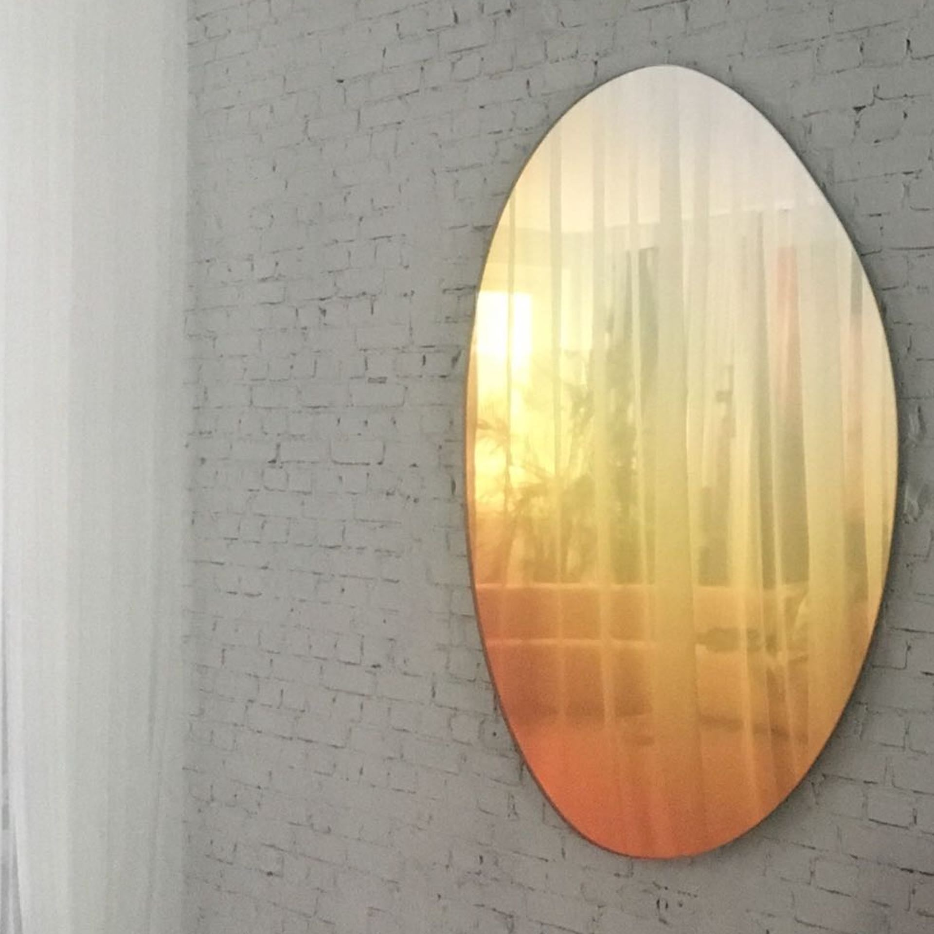 Off Round Hue Mirror by Sabine Marcelis, 2018. Photo © Etage Projects