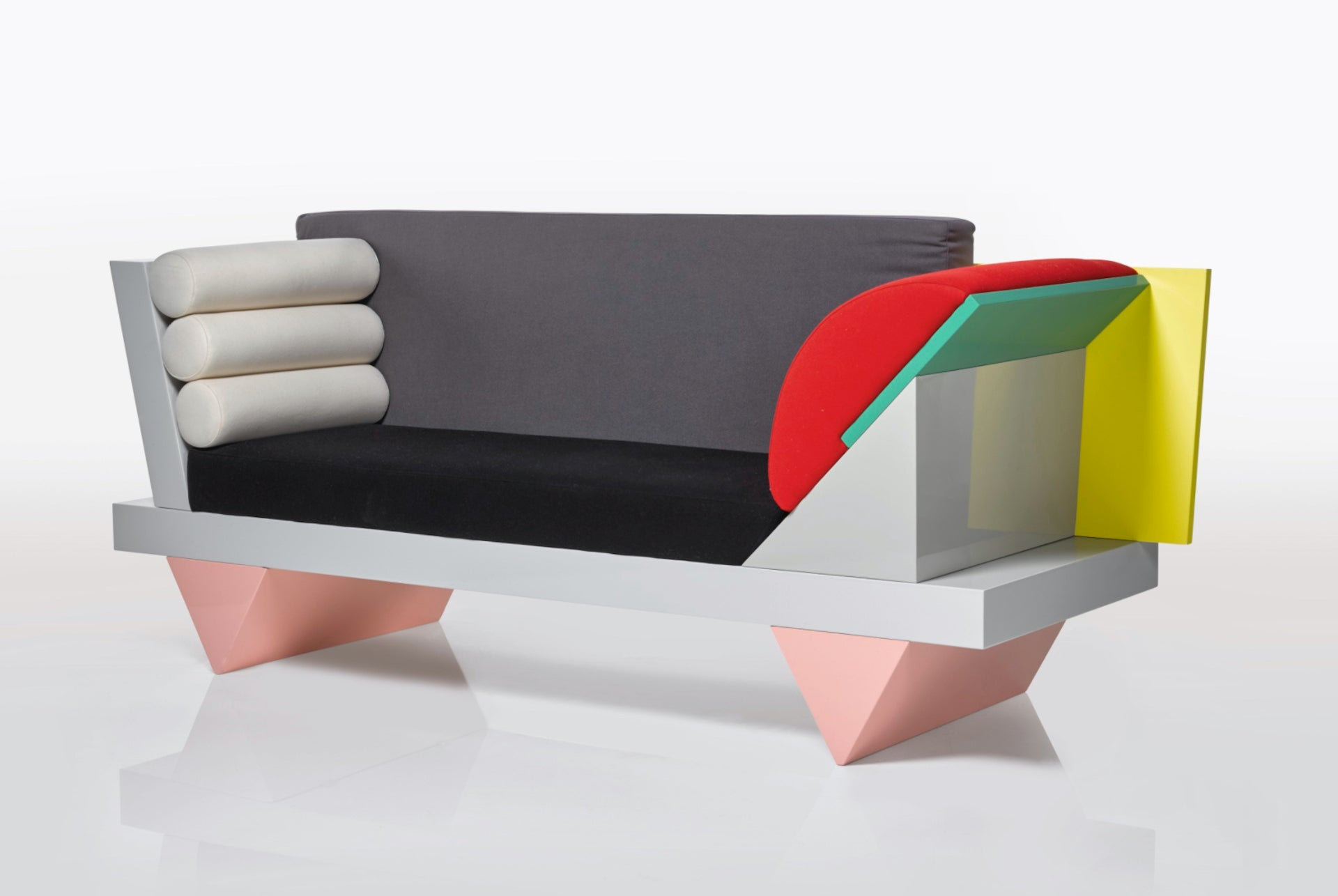 Big Sur Sofa by Peter Shire for Memphis, 1986. From the Collection of David Bowie. Sold at Sotheby's London in 2016 for £77,500. Photo © Sotheby's