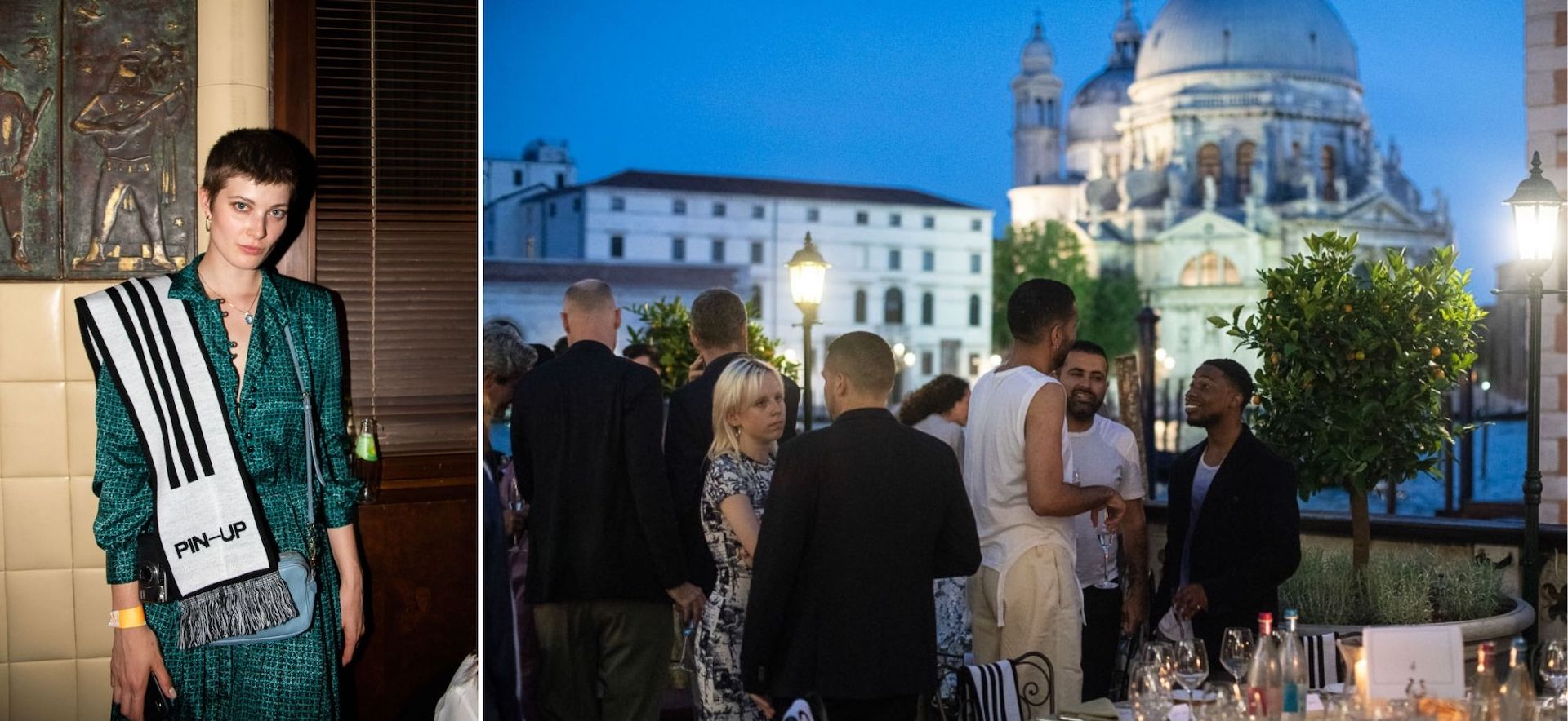 Guests at PIN–UP dinner and dance party at the Bauer Hotel in Venice on the occasion of the preview of the 2018 Biennale Architettura. Photos © Giacomo Cosua for PIN–UP