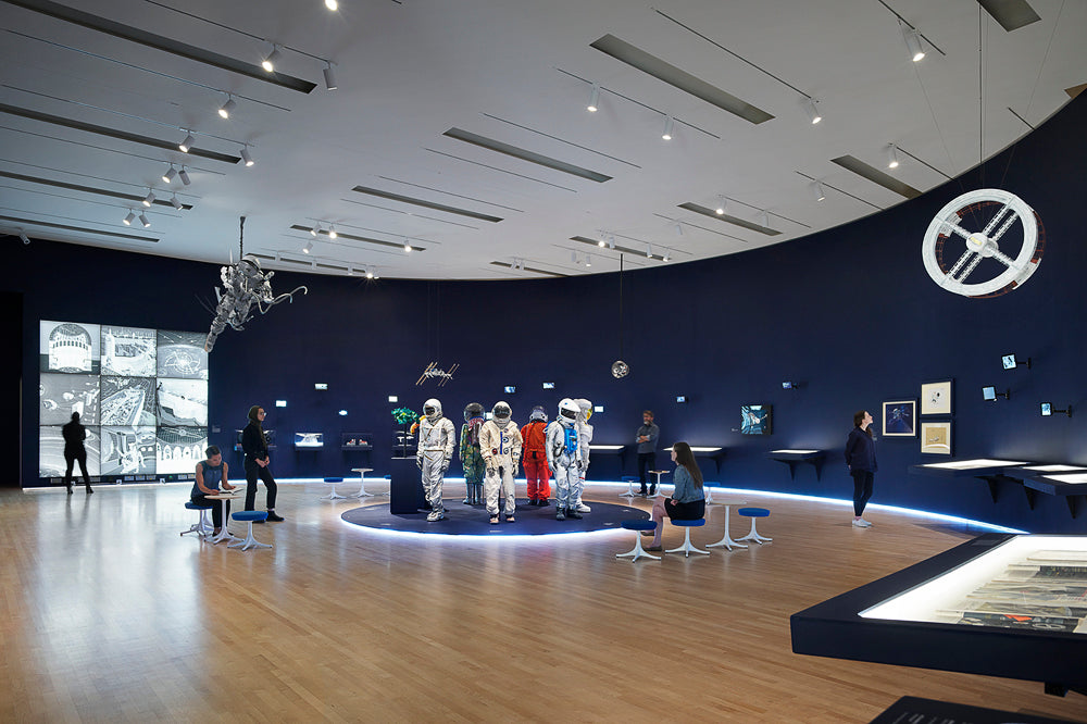 Far Out: Suits, Habs, and Labs for Outer Space at SFMOMA, co-curated with Jennifer Dunlop Fletcher, July 20, 2019–January 20, 2020. Photo © Matthew Millman