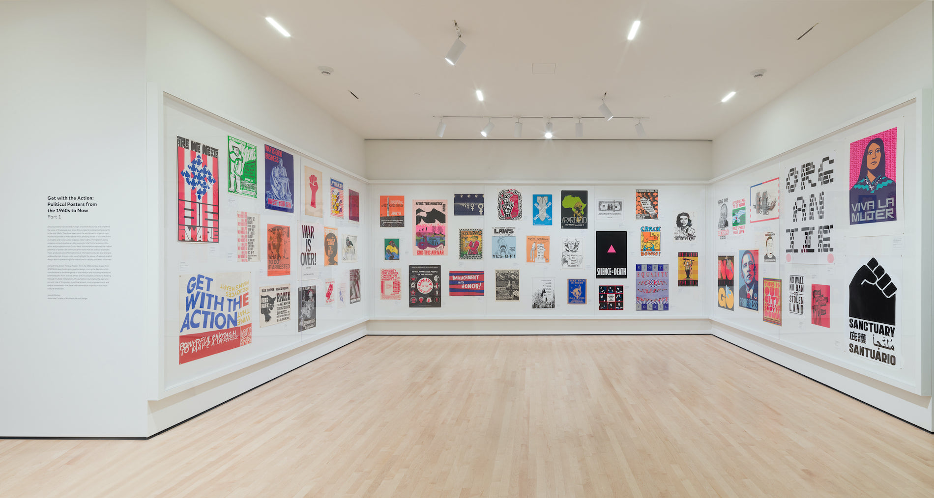 Get With the Action: Political Posters from the 1960s to Now at SFMOMA, Sep 16, 2017 - Apr 8, 2018. Photo © Katherine Du Tiel