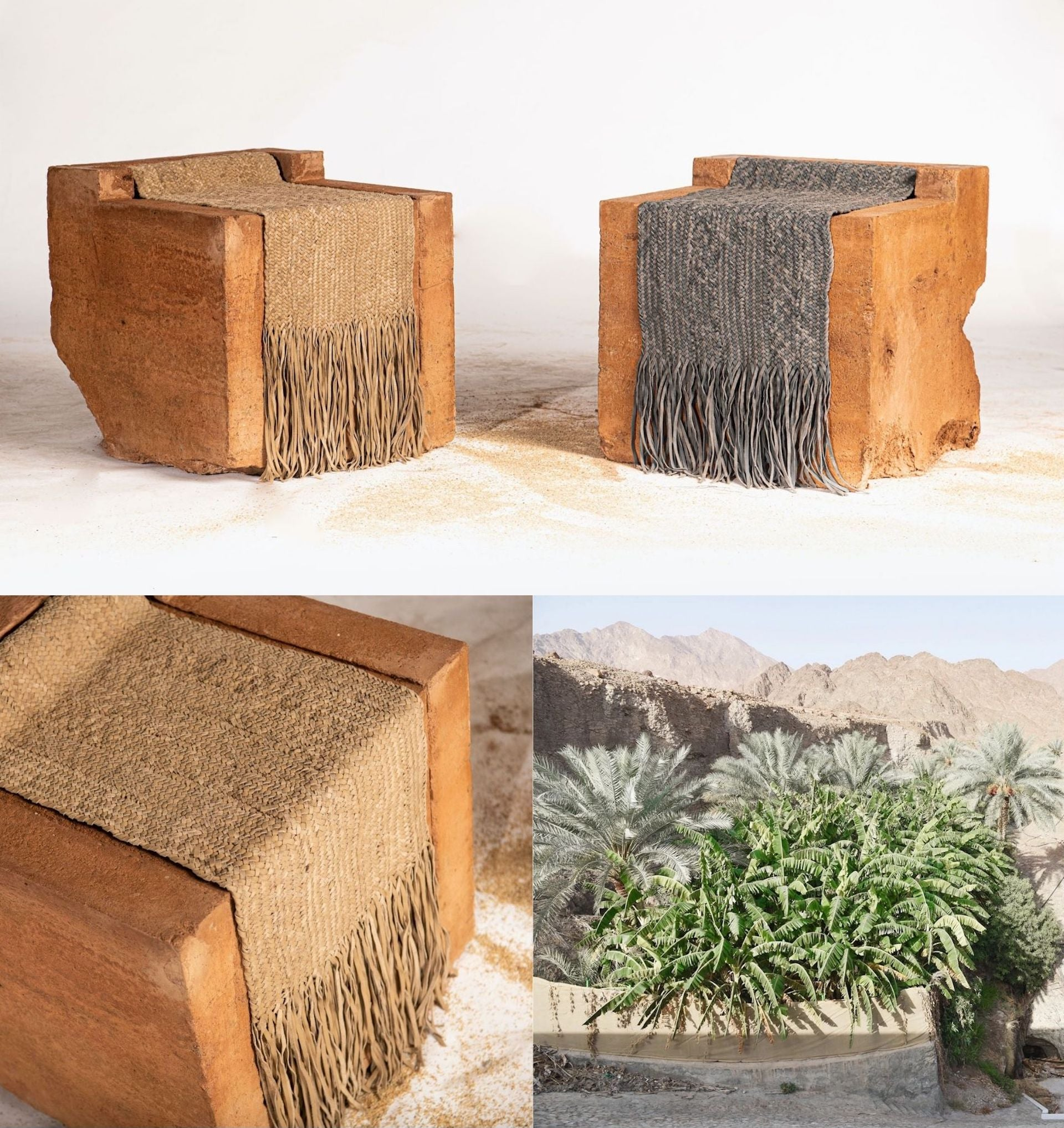 Safeefah x Sand Casting Collection. Photos © Irthi Contemporary Crafts Council and Architecture + Other Things