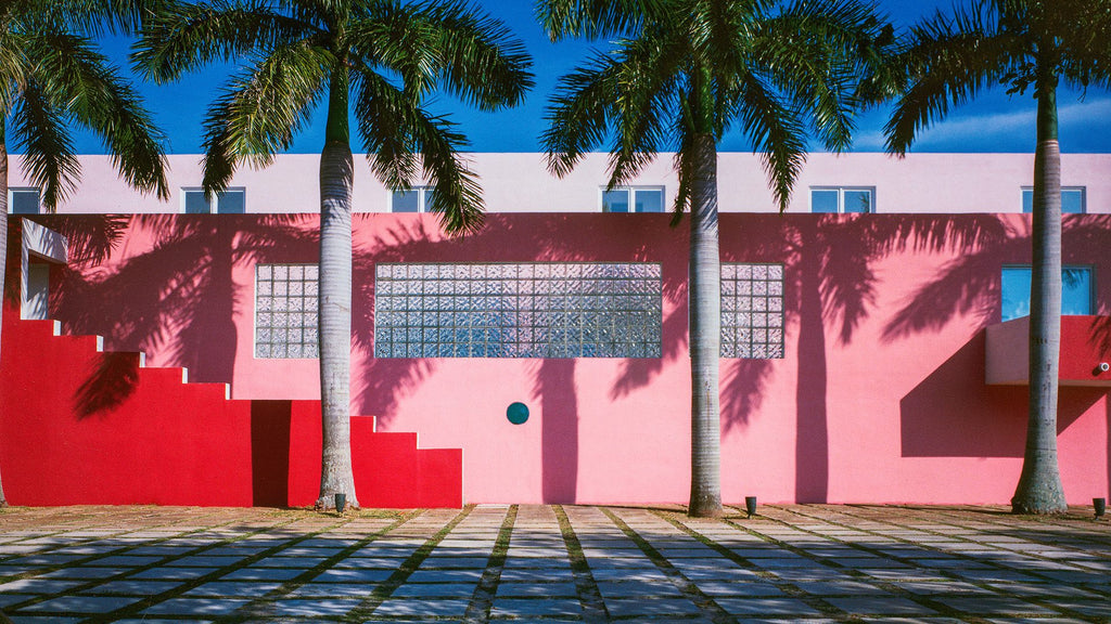 Miami's Pink House designed by Laurinda Spear and Rem Koolhaas. Photo © Arquitectonica