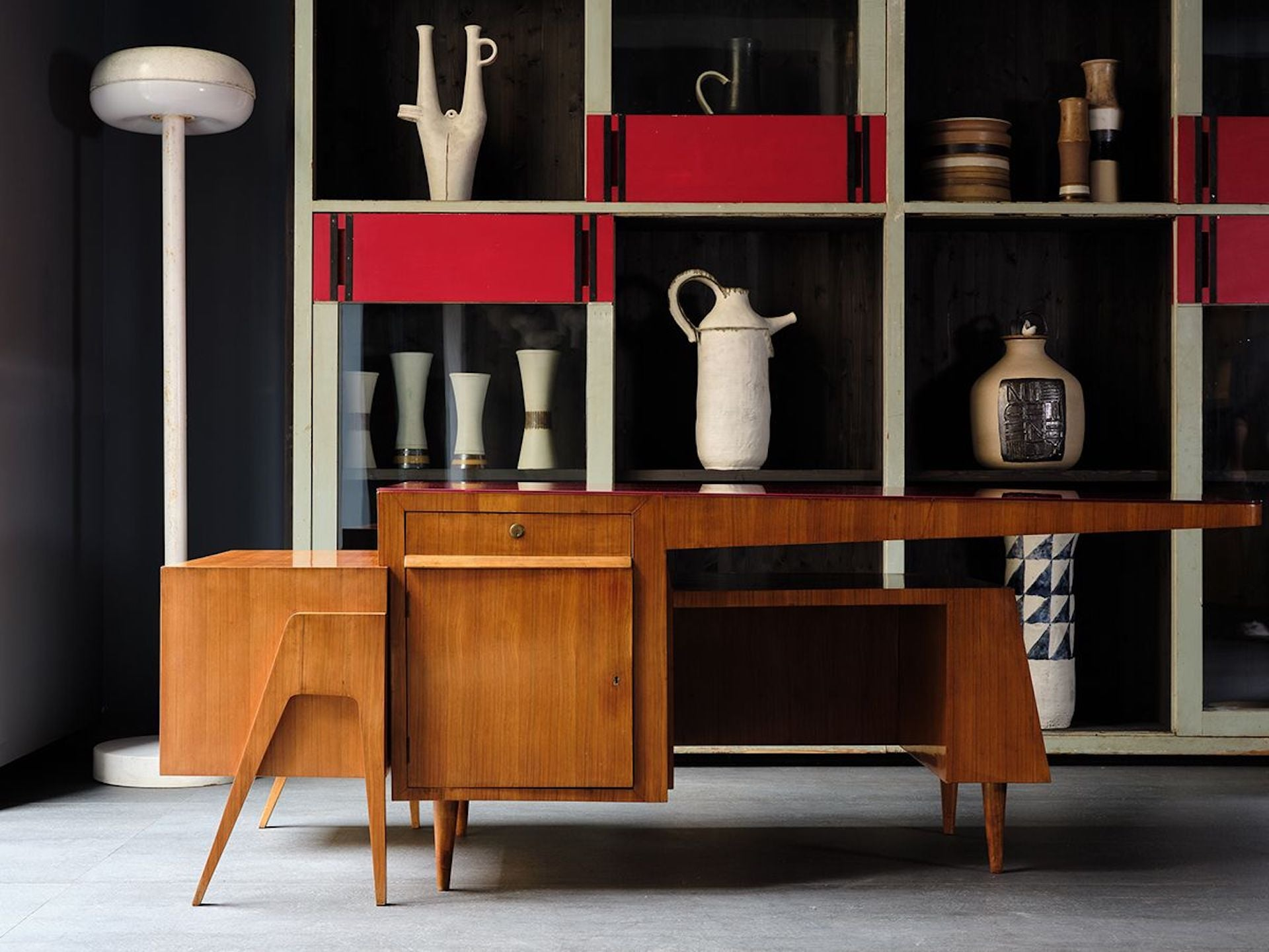 """Unique Double Desk by Melchiorre Bega, presented by Galleria Rossella Colombari. """"A gorgeous marriage of gorgeous form and practical function."""" Photo © Galleria Rossella Colombari"""