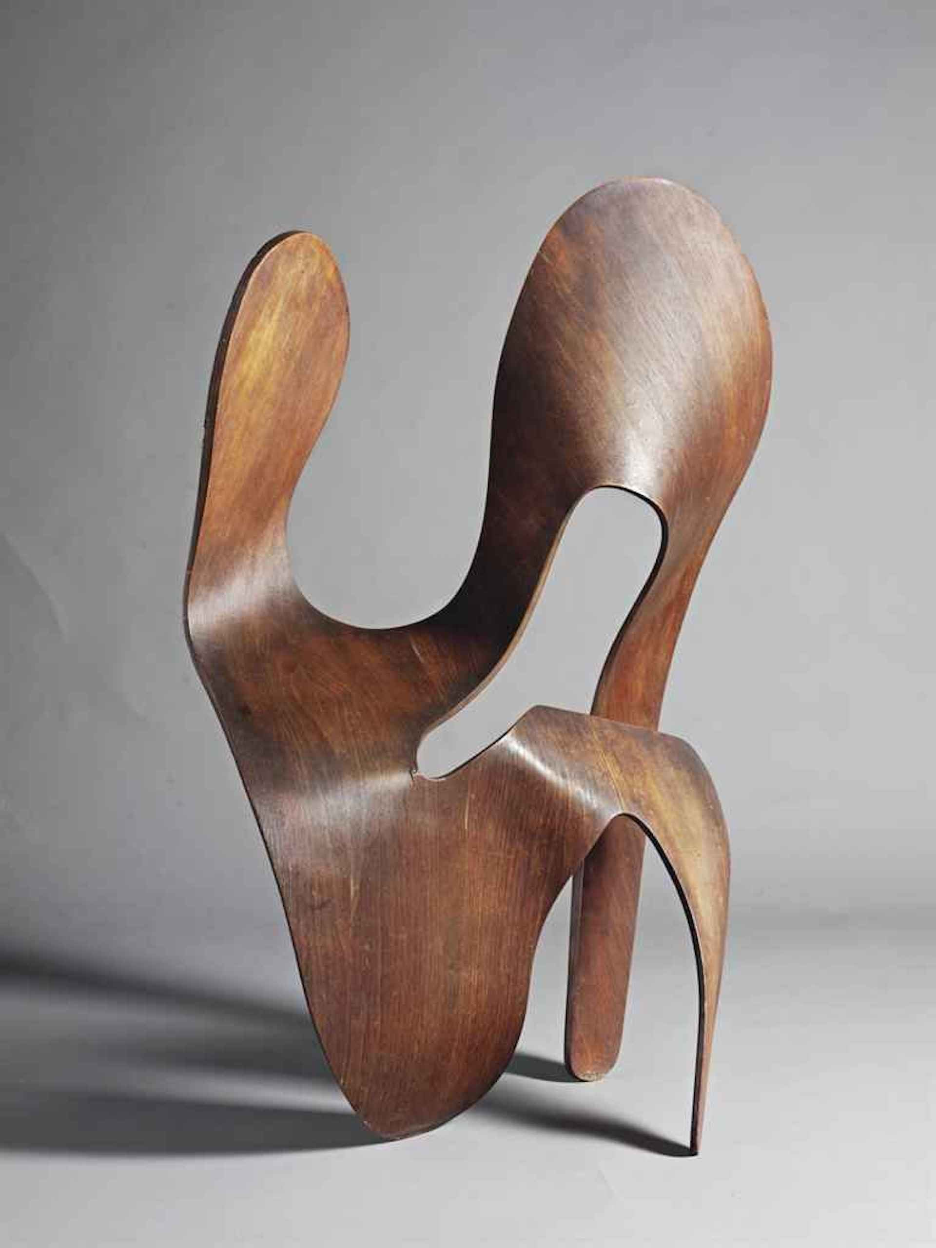 Unique Plywood Sculpture by Charles & Ray Eames, 1943. Sold at Christie's in 1999 for $365,500. Photo © Christie's