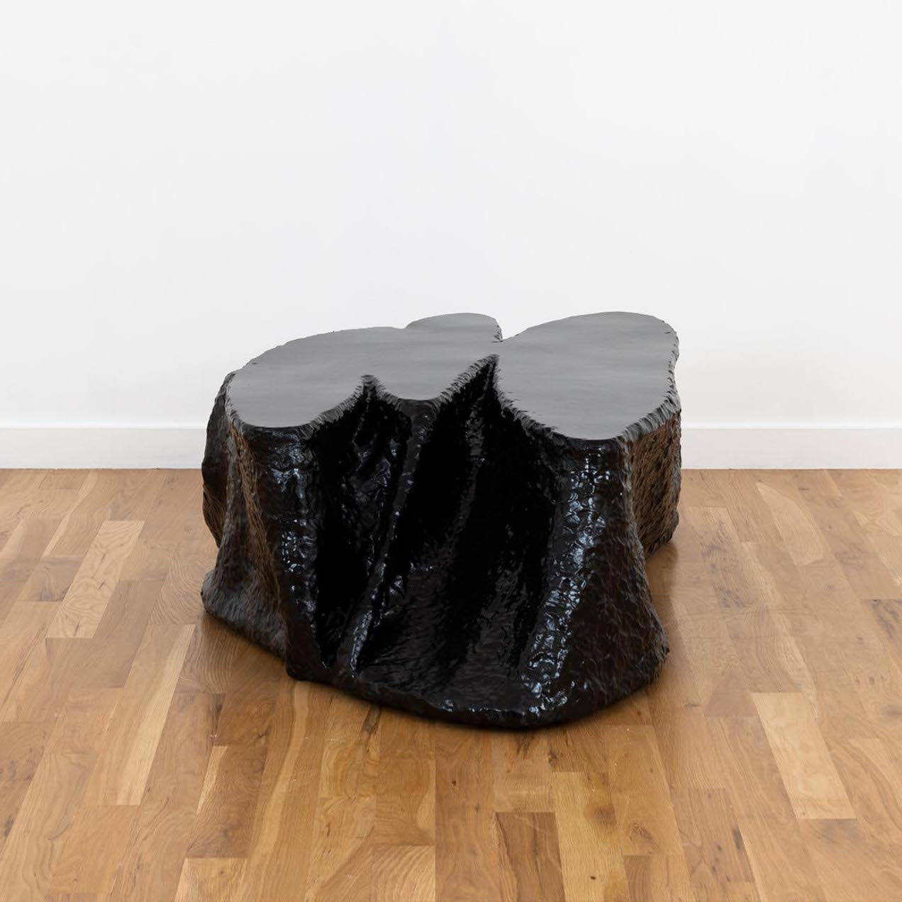 Felled Table by Ross Hansen, a one-of-a-kind made of fiberglass and truck bed liner. Photo © Volume Gallery