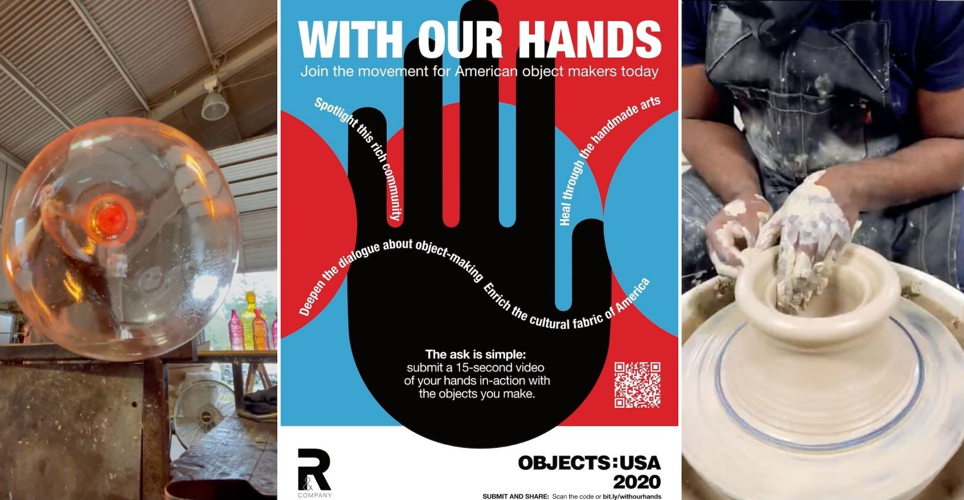 Submit your video to #WithOurHands! Left: video by Andi Kovel. Right: video by Ebitenyefa Baralaye. Courtesy of R & Company