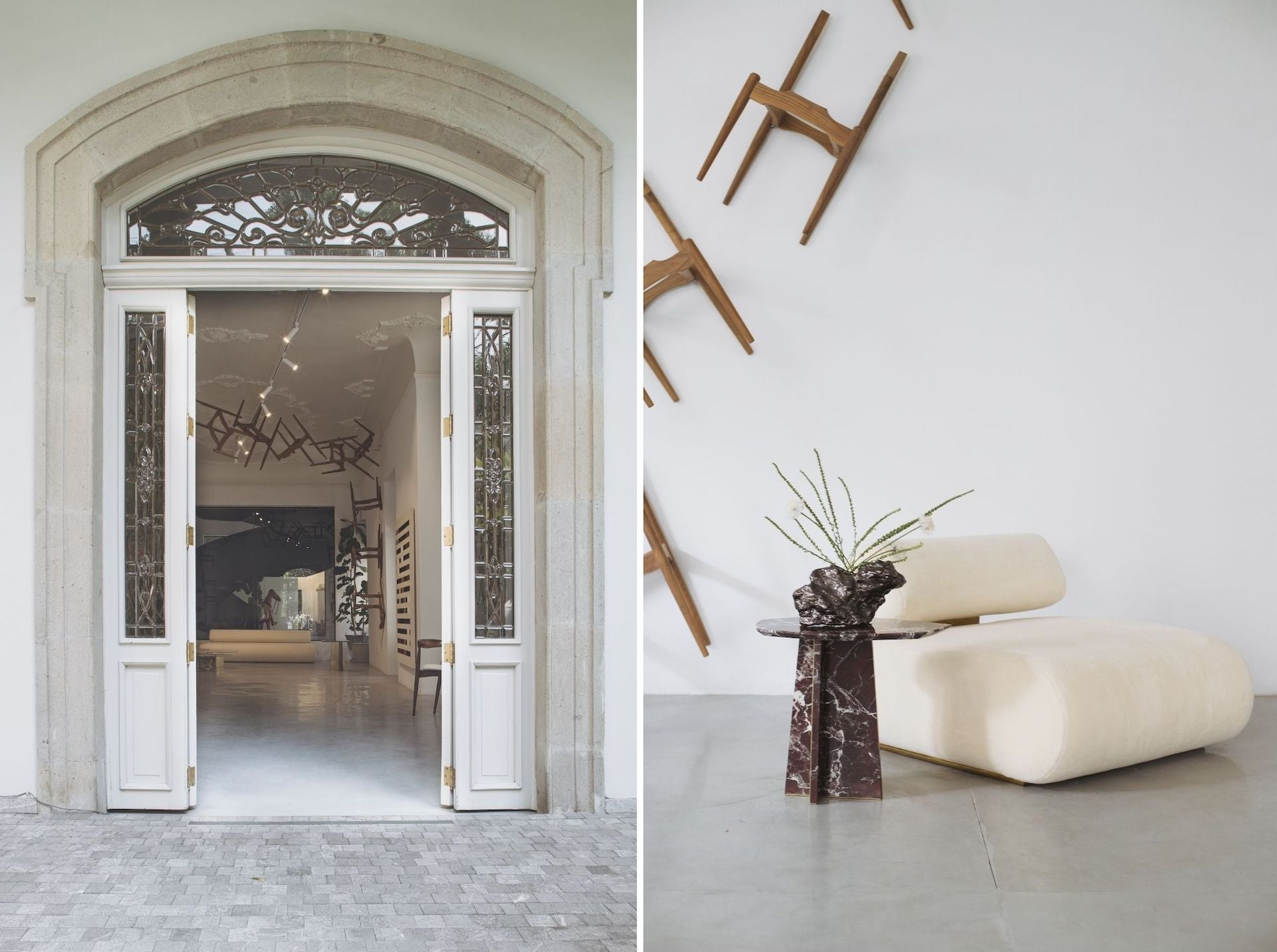 Atra Collective's new Mexico City space, set in the historic Casa Basalta; Images © ATRA