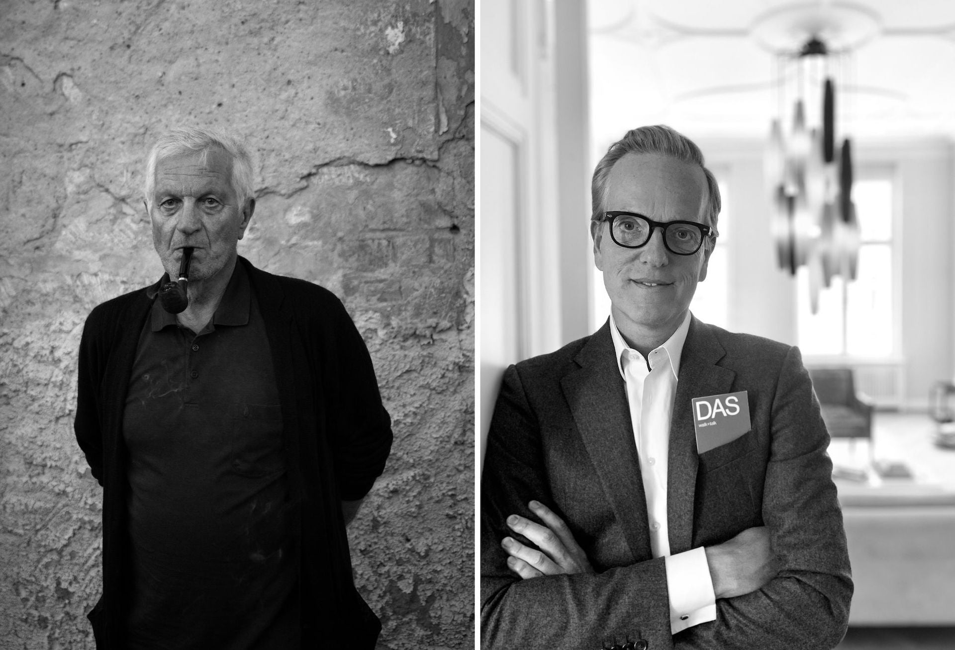 Egidio Marzona and Arne Cornelius Wasmuth. The Marzona Foundation purchased the land for the dieDAS in 2018. Photos © dieDAS