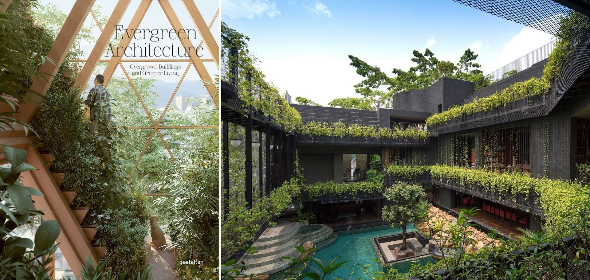Evergreen Architecture cover. The private residence Cornwall Gardens in Singapore by CHANG Architects. Photos courtesy of CHANG Architects; © Gestalten 2021