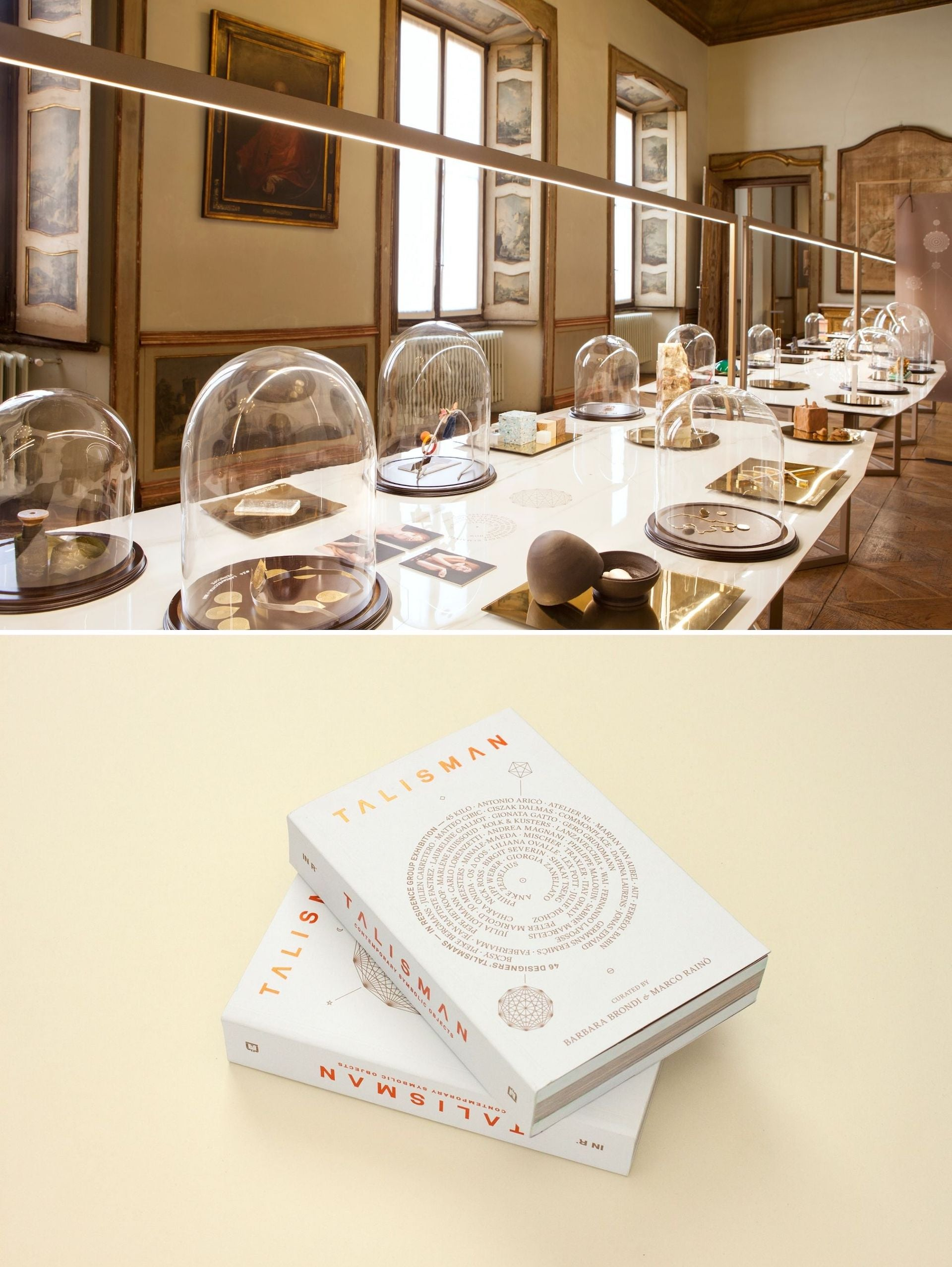 The Talisman exhibition and book. Top photo by Tullio Deorsola; all photos © IN Residence