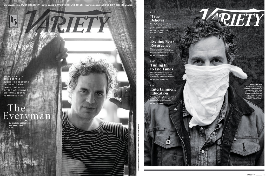 Mark Ruffalo in Variety Magazine April 2020, photographed by Pernille Loof and Thomas Loof