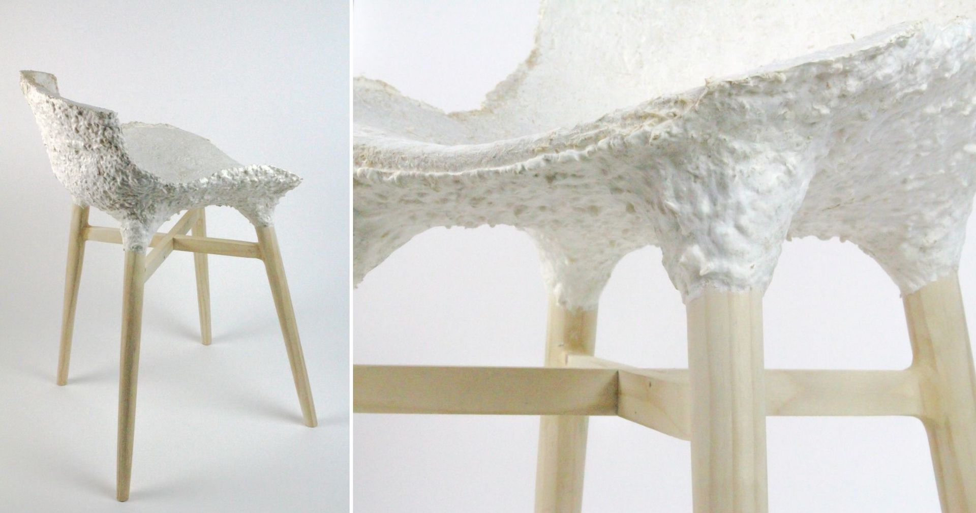 Seating created from Mycelia at Officina Corposcoli's Growing Lab. Photos © Officina Corpuscoli and Maurizio Montalti