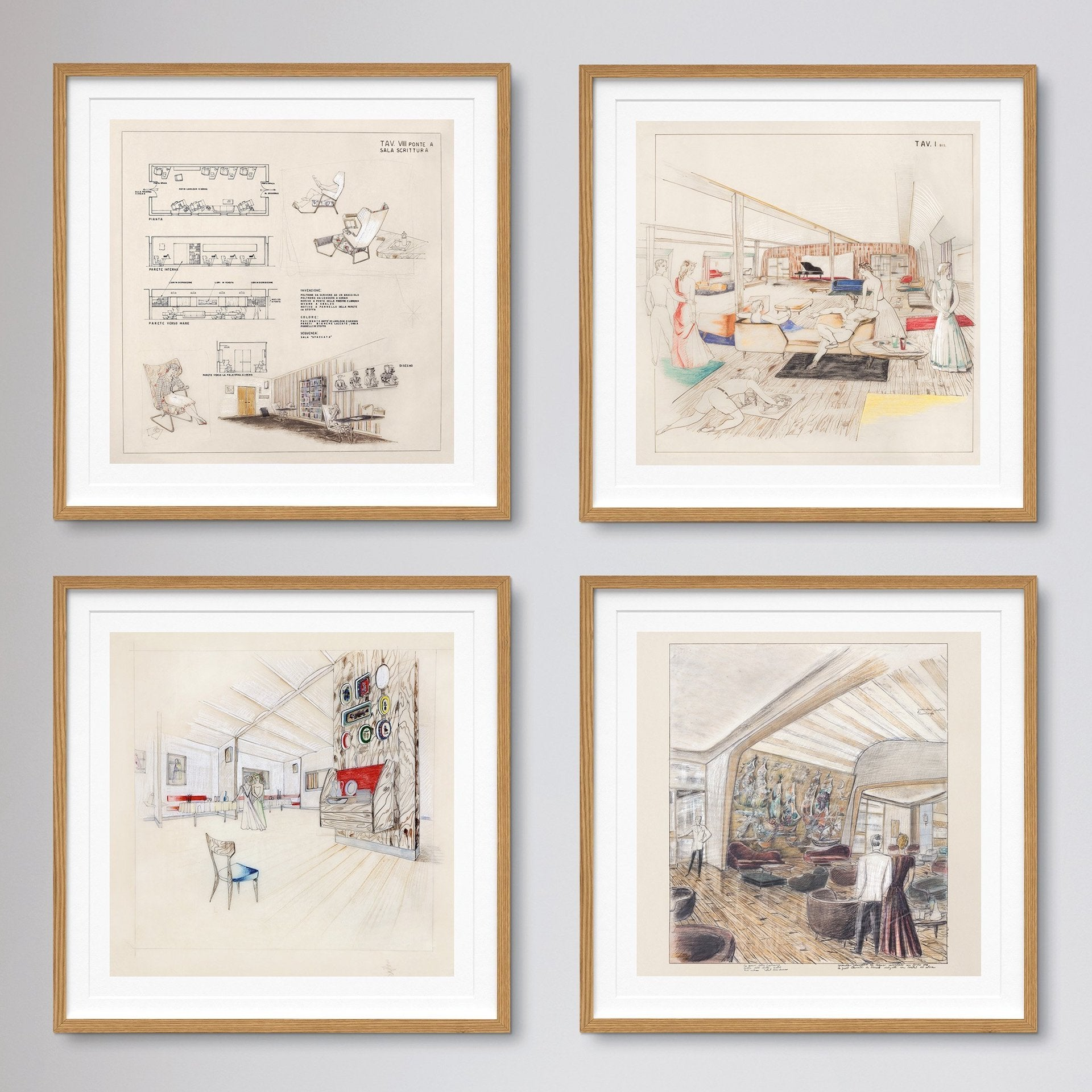 Set of prints offered with the art edition Gio Ponti, available in July. Photo © Taschen