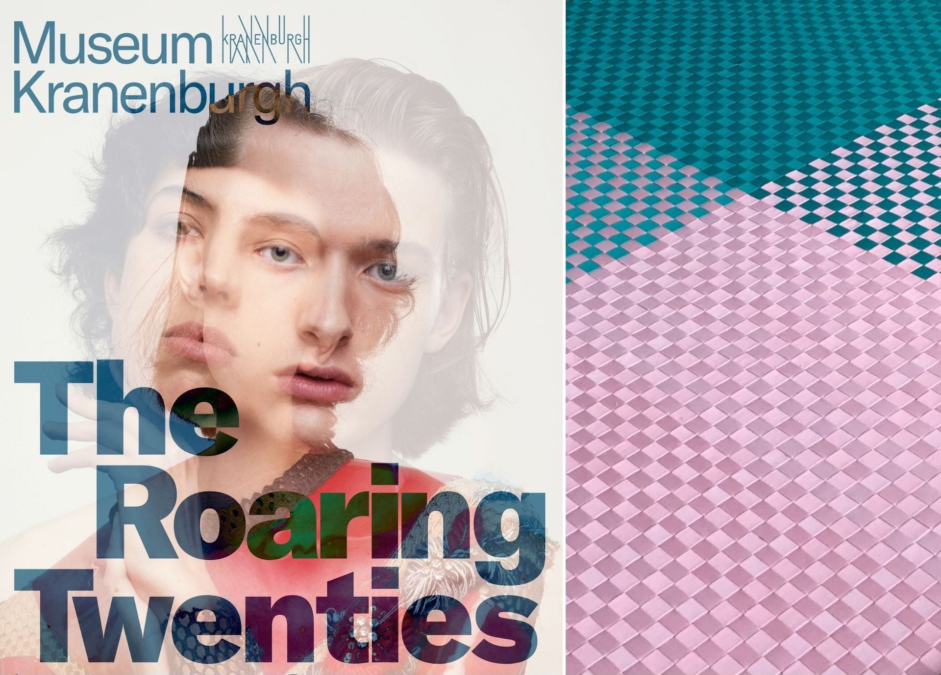 Promotional Posters for The Roaring Twenties beside a detail on a new rug by Studio Wieki Somers. Photos courtesy of Studio Wieki Somers