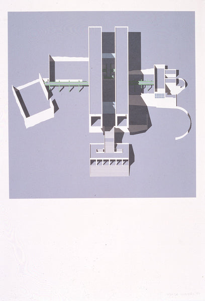 Arata Isozaki Reduction MUSEUM-Ⅱ Silkscreen; Ed. AP/75; Signed