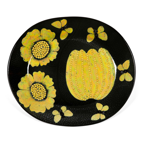 Birger Kaipiainen Dish with flowers and butterflies