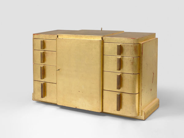 Jean Dunand Gold Lacquer Dresser