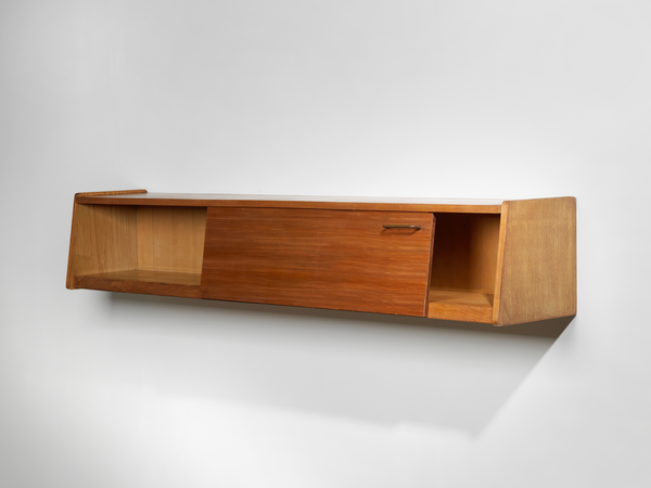 Joseph-André Motte Wall Shelf with Sliding Door